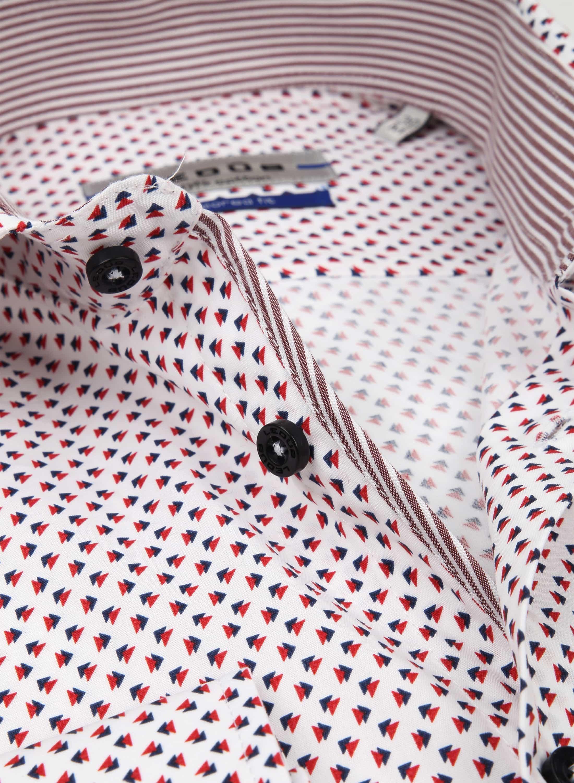 Ledub Overhemd Print Rood Blauw SL7 foto 1