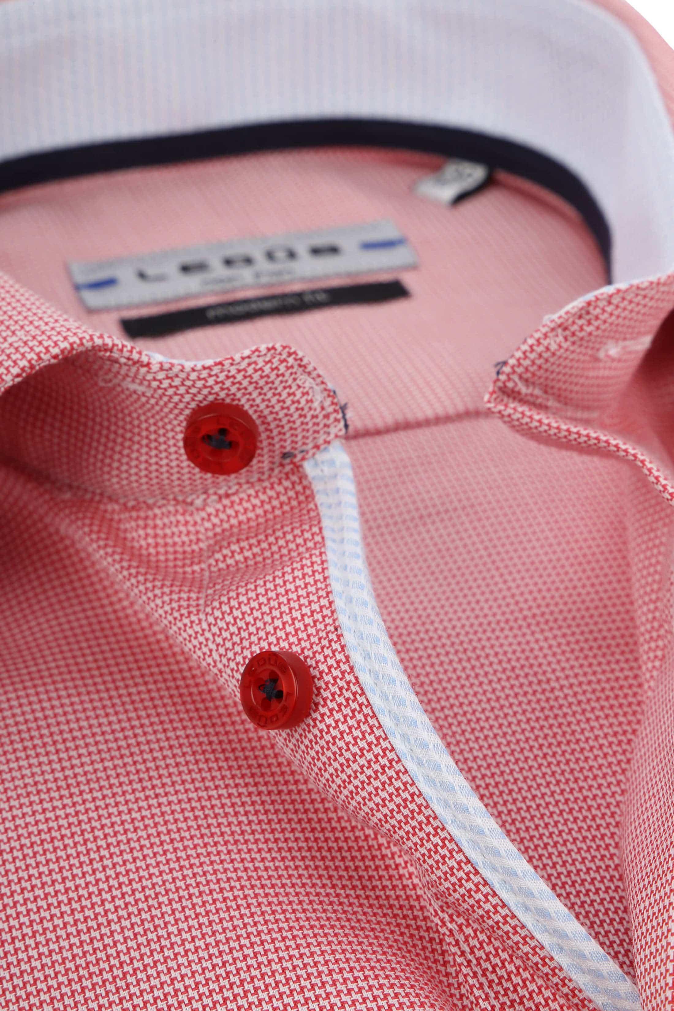 Ledub Overhemd Rood Non Iron MF foto 1