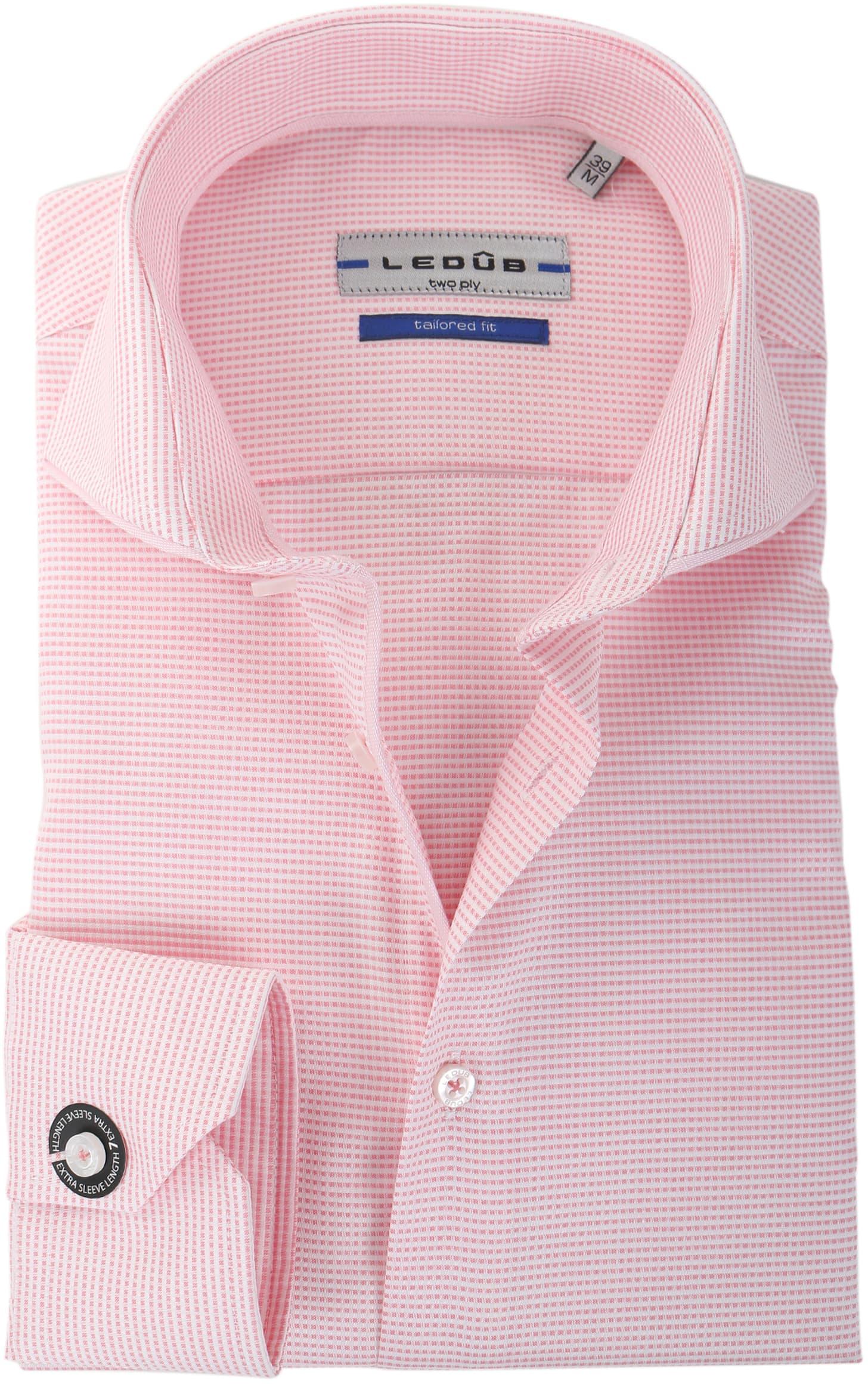 Roze Overhemd.Ledub Overhemd Roze Wit Ruit Sl7 135880 Online Bestellen Suitable