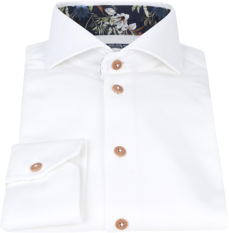 Ledub Overhemd Stretch Wit