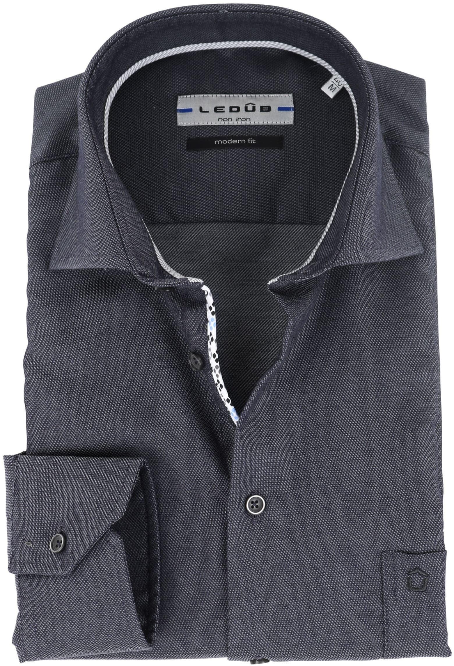 Ledub Overhemd Strijkvrij Antraciet foto 0