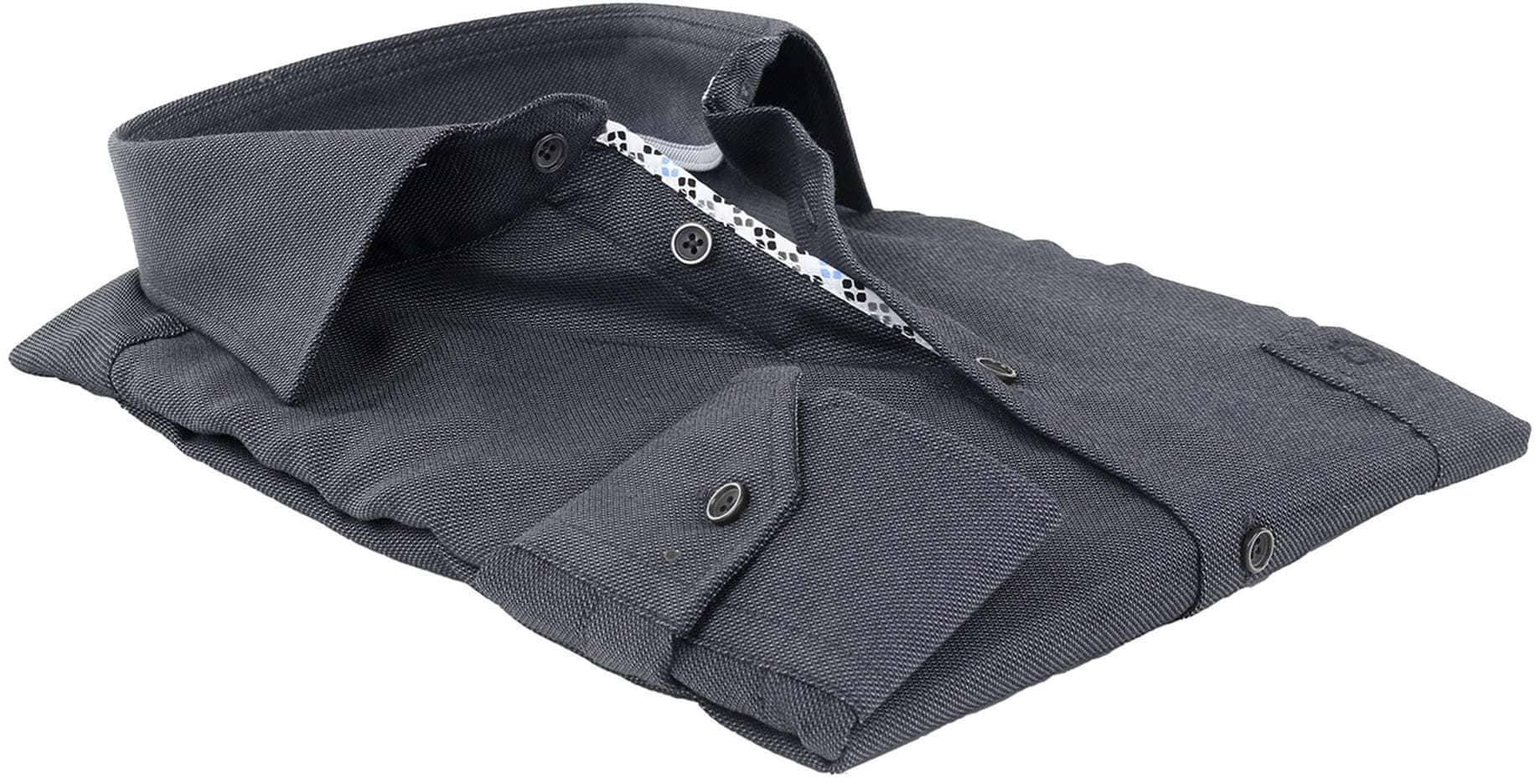 Ledub Overhemd Strijkvrij Antraciet foto 2