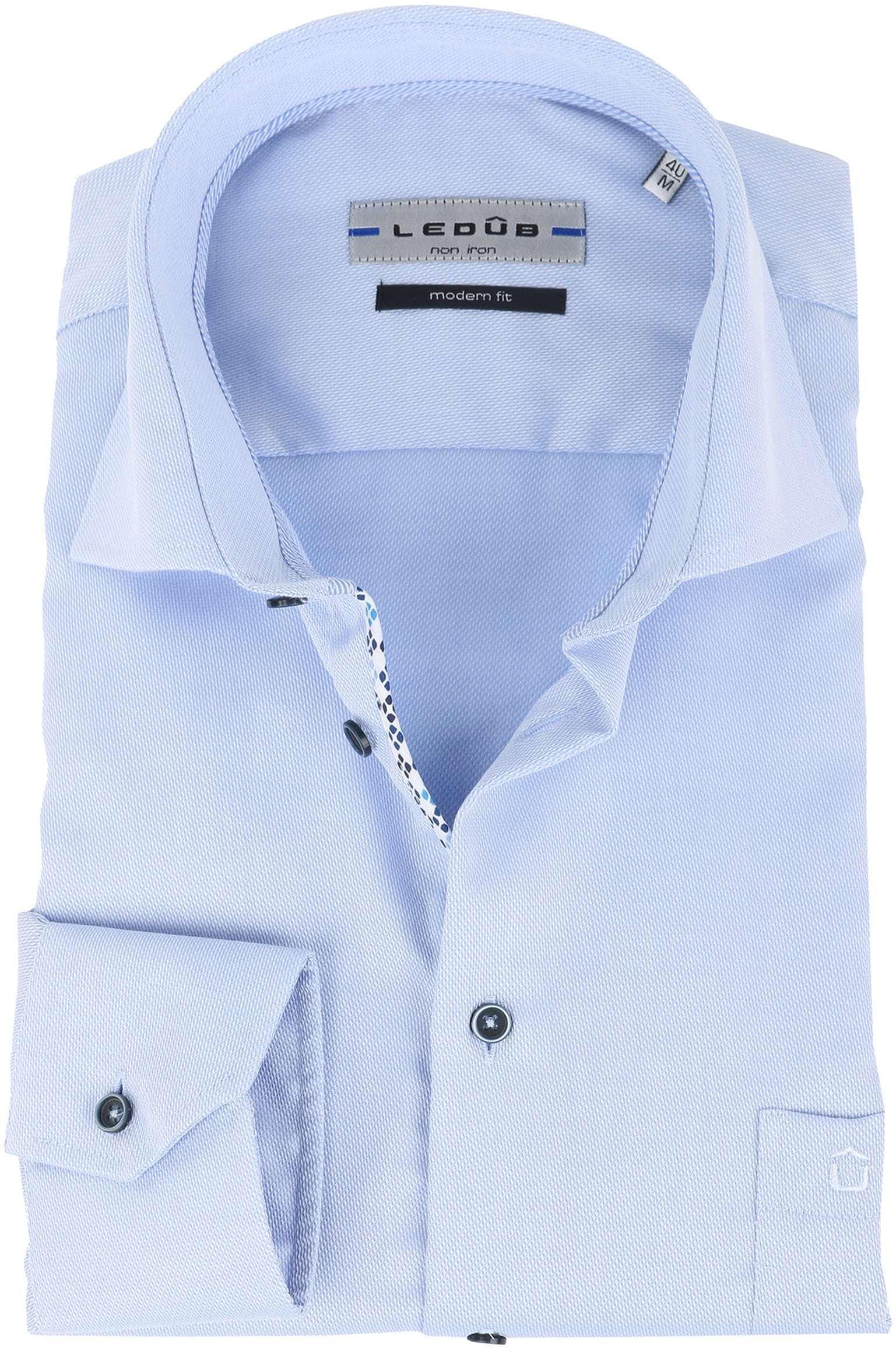 Ledub Overhemd Strijkvrij Blauw foto 0