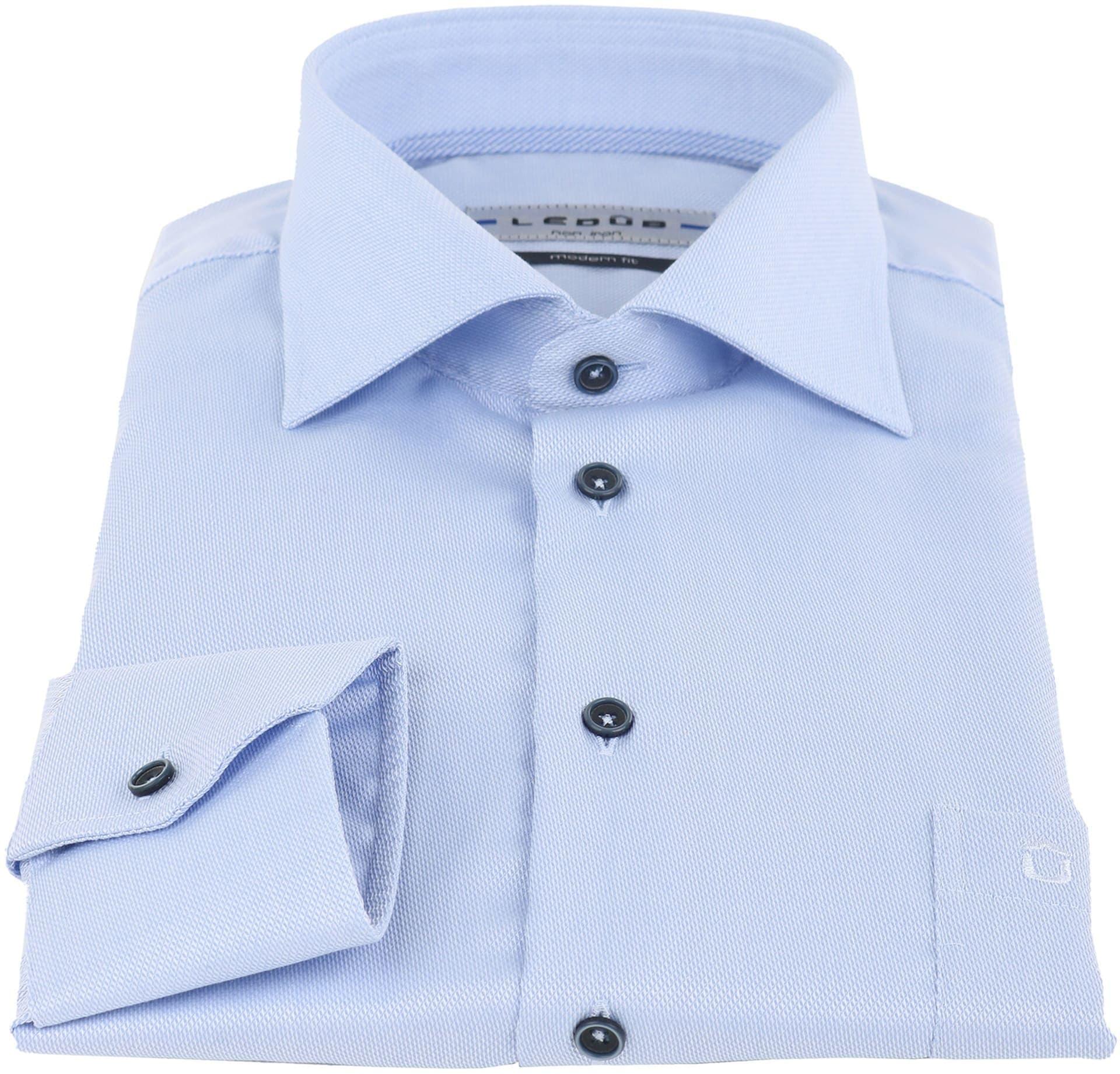 Ledub Overhemd Strijkvrij Blauw foto 1