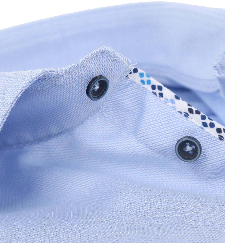 Ledub Overhemd Strijkvrij Blauw foto 3