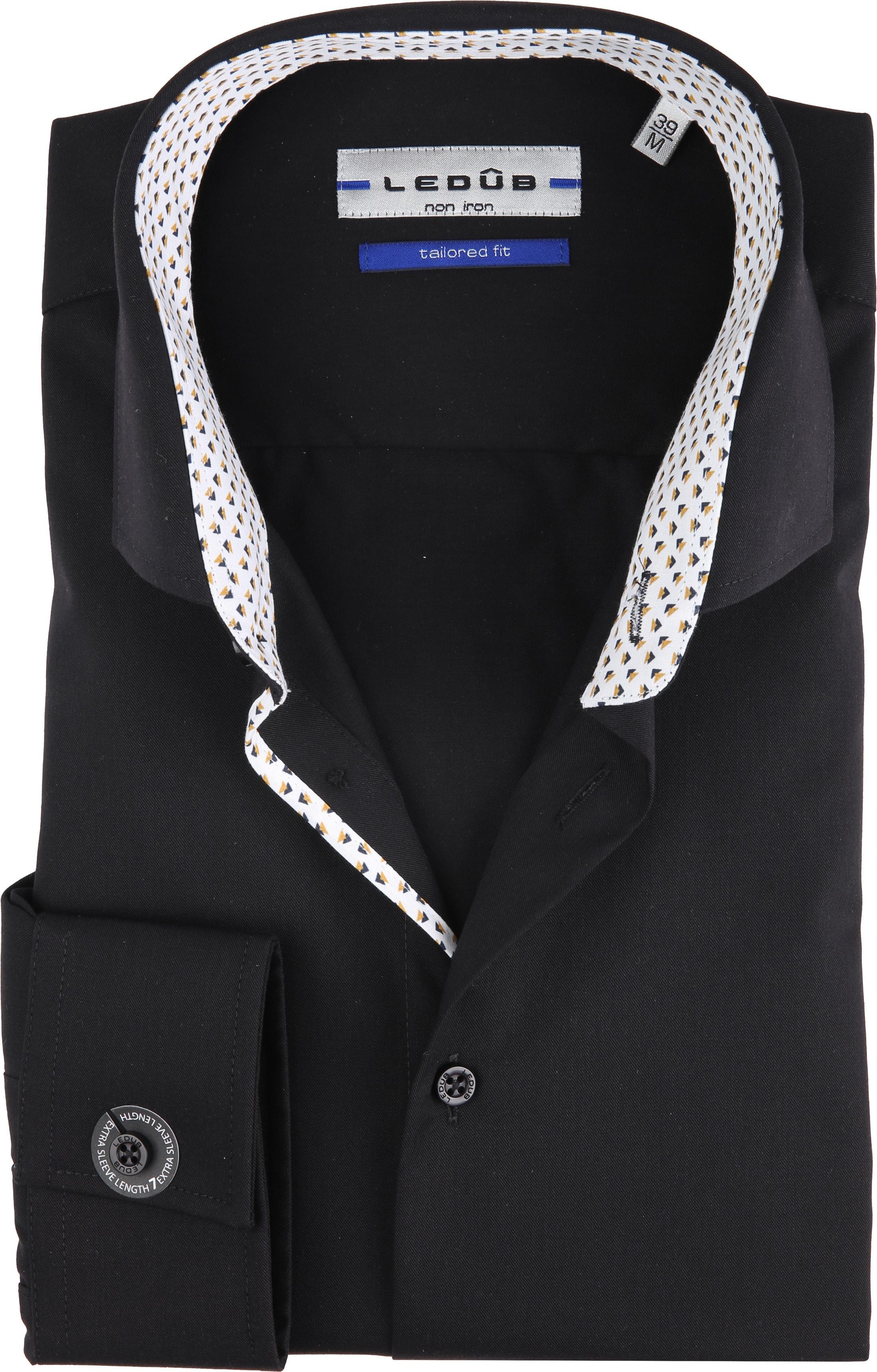 eba5e171982 Ledub Overhemd Strijkvrij Zwart 0137651 online bestellen | Suitable