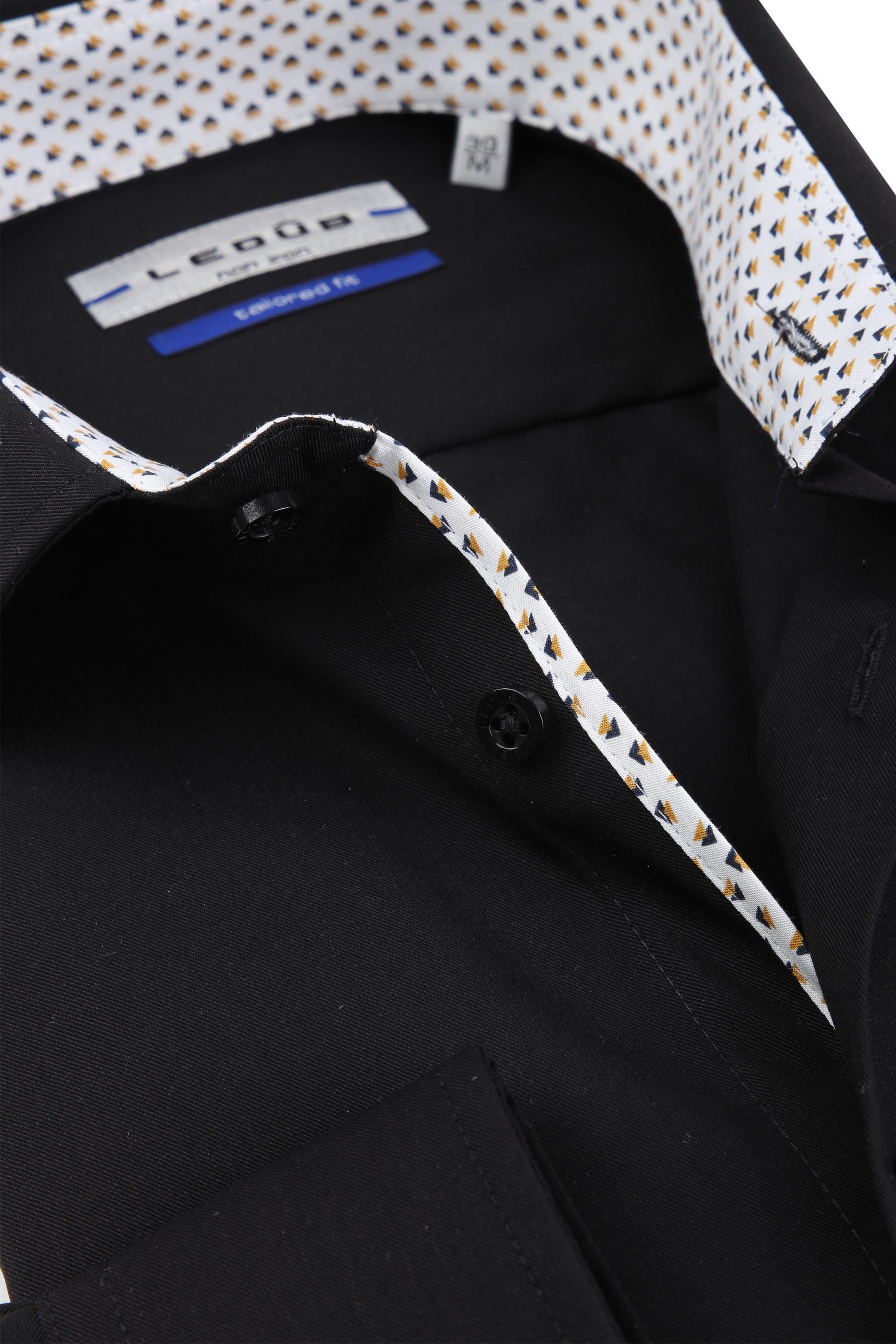 Ledub Overhemd Strijkvrij Zwart foto 1
