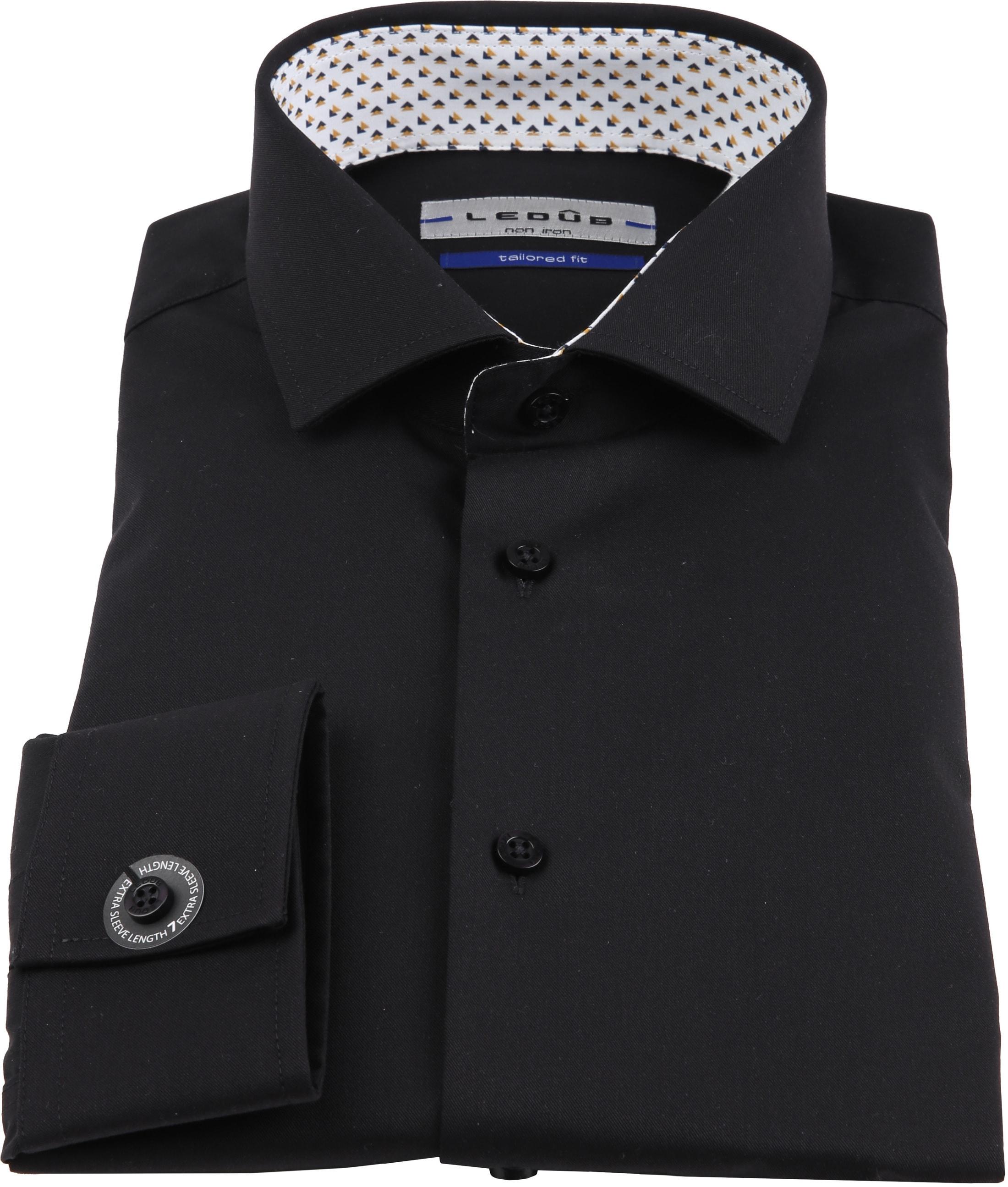 Ledub Overhemd Strijkvrij Zwart foto 2