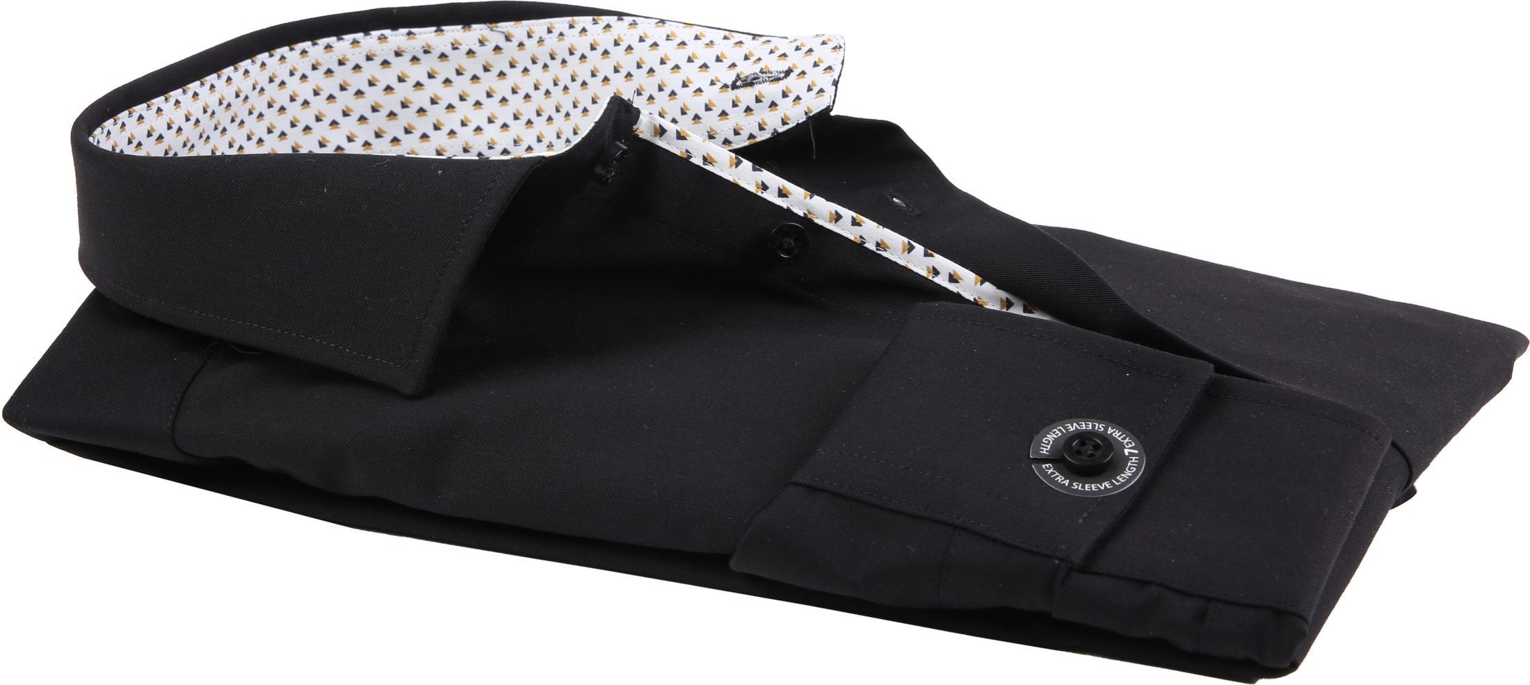 Ledub Overhemd Strijkvrij Zwart foto 3
