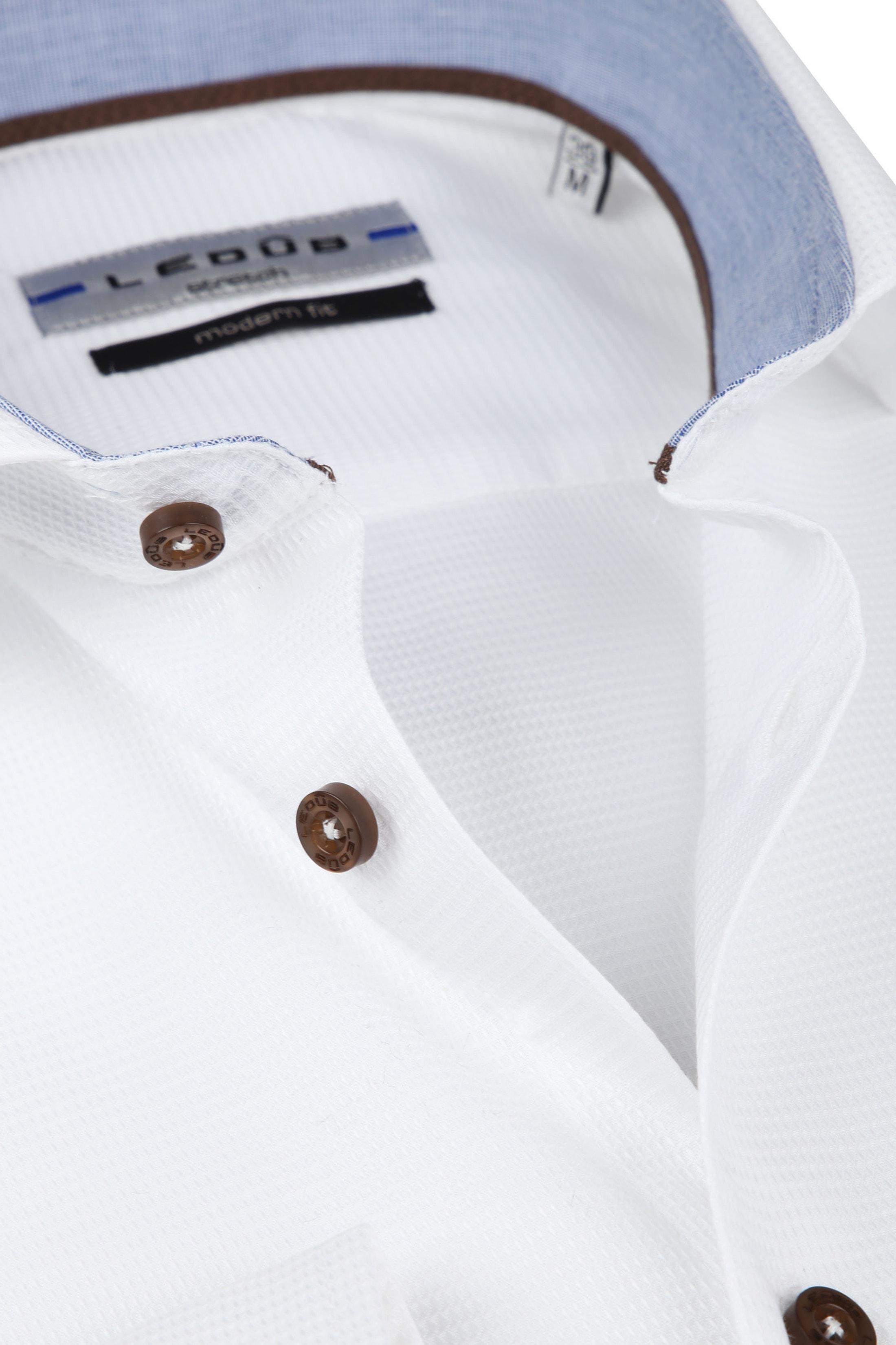 Ledub Overhemd Wit MF foto 1