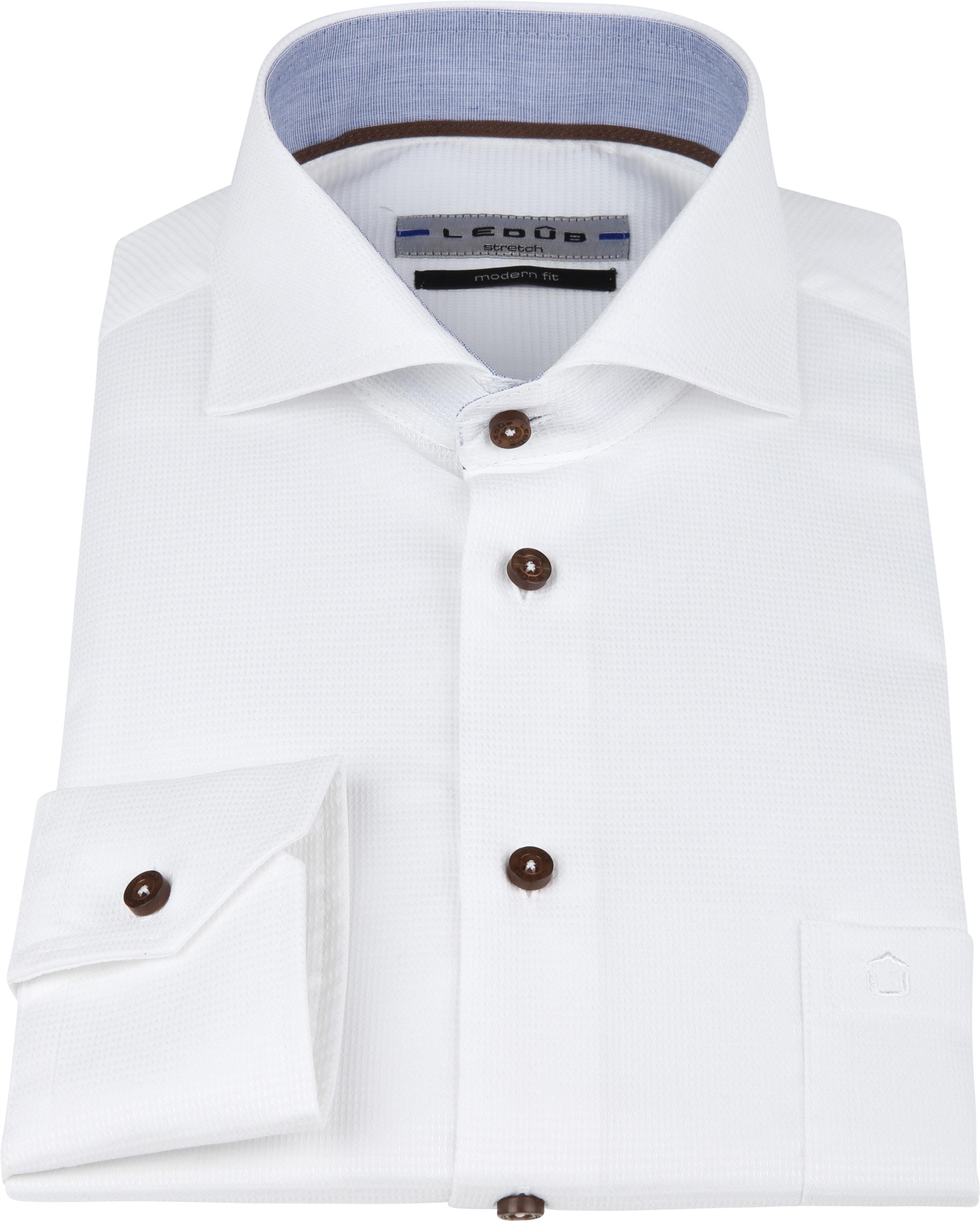 Ledub Overhemd Wit MF foto 2