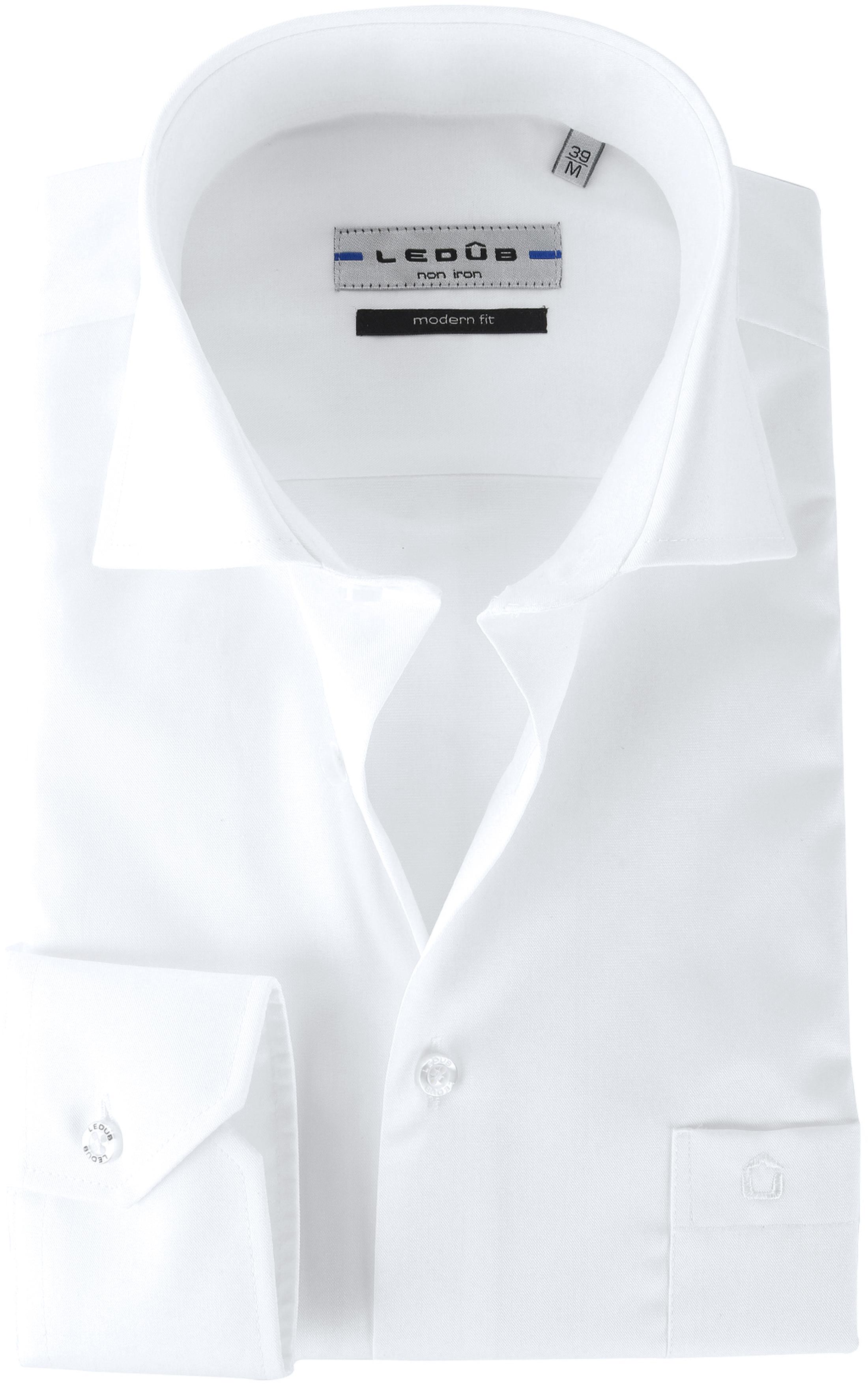 Ledub Overhemd Wit  Non Iron foto 0