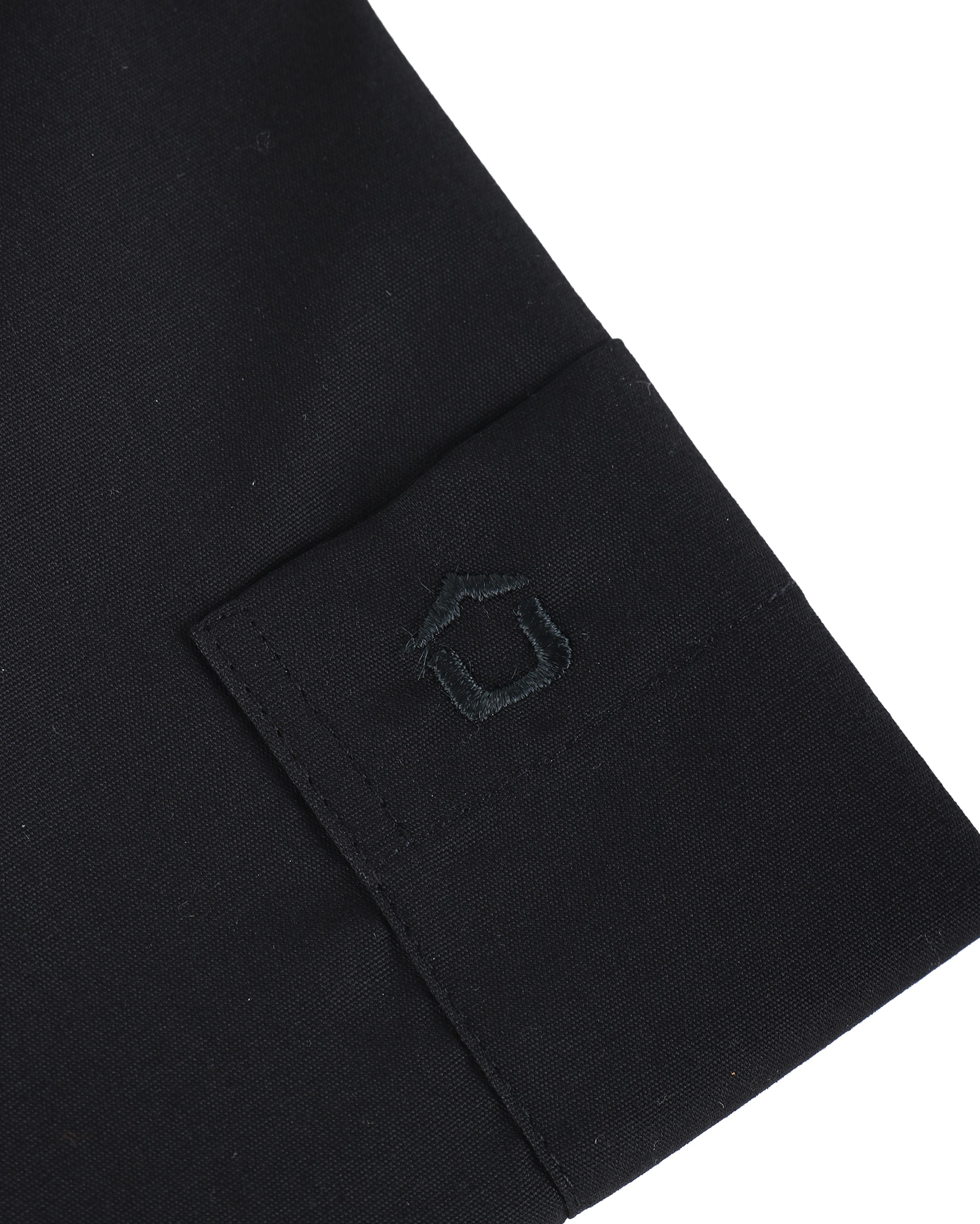 Ledub Overhemd Zwart Modern Fit foto 2