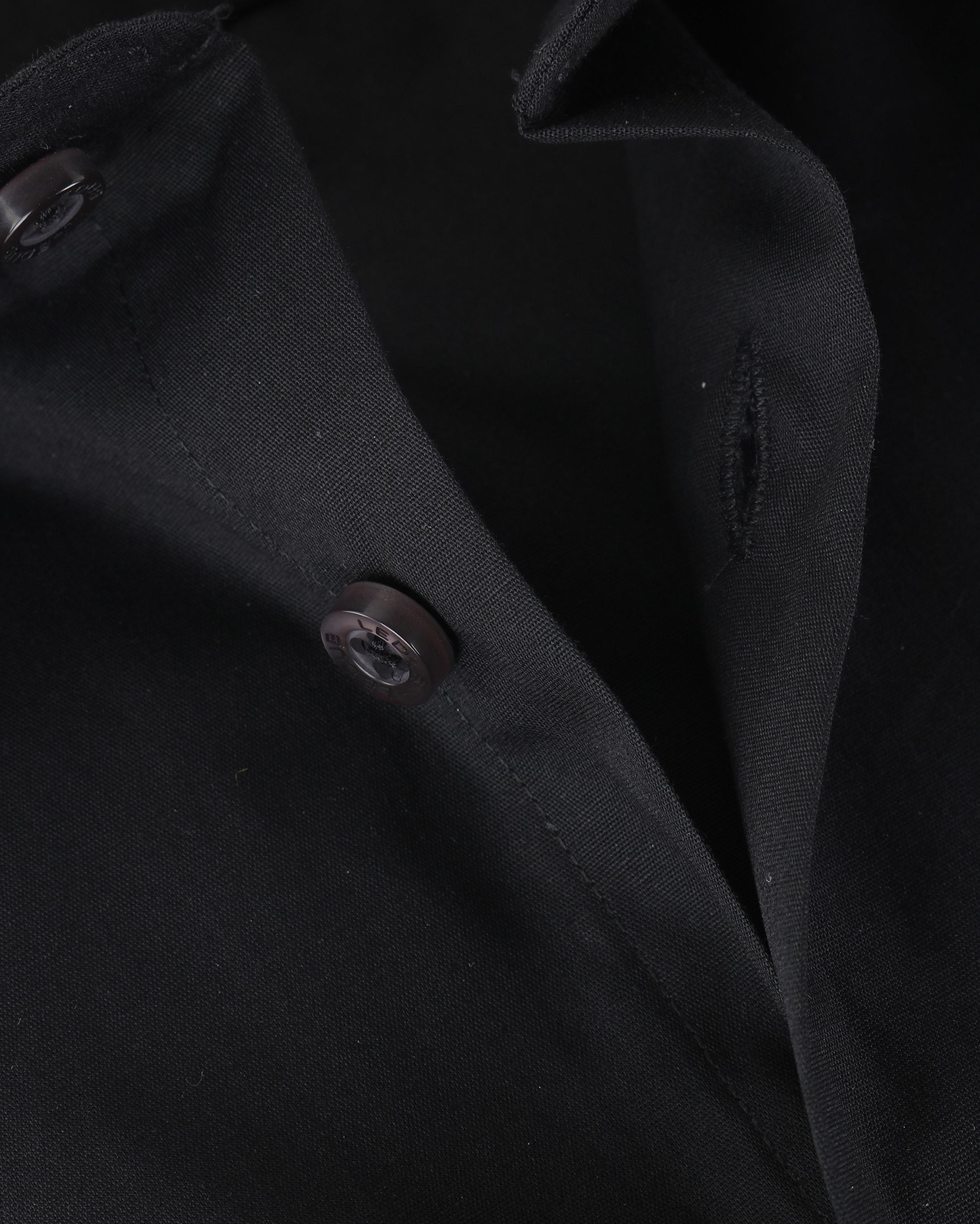 Ledub Overhemd Zwart Modern Fit foto 4