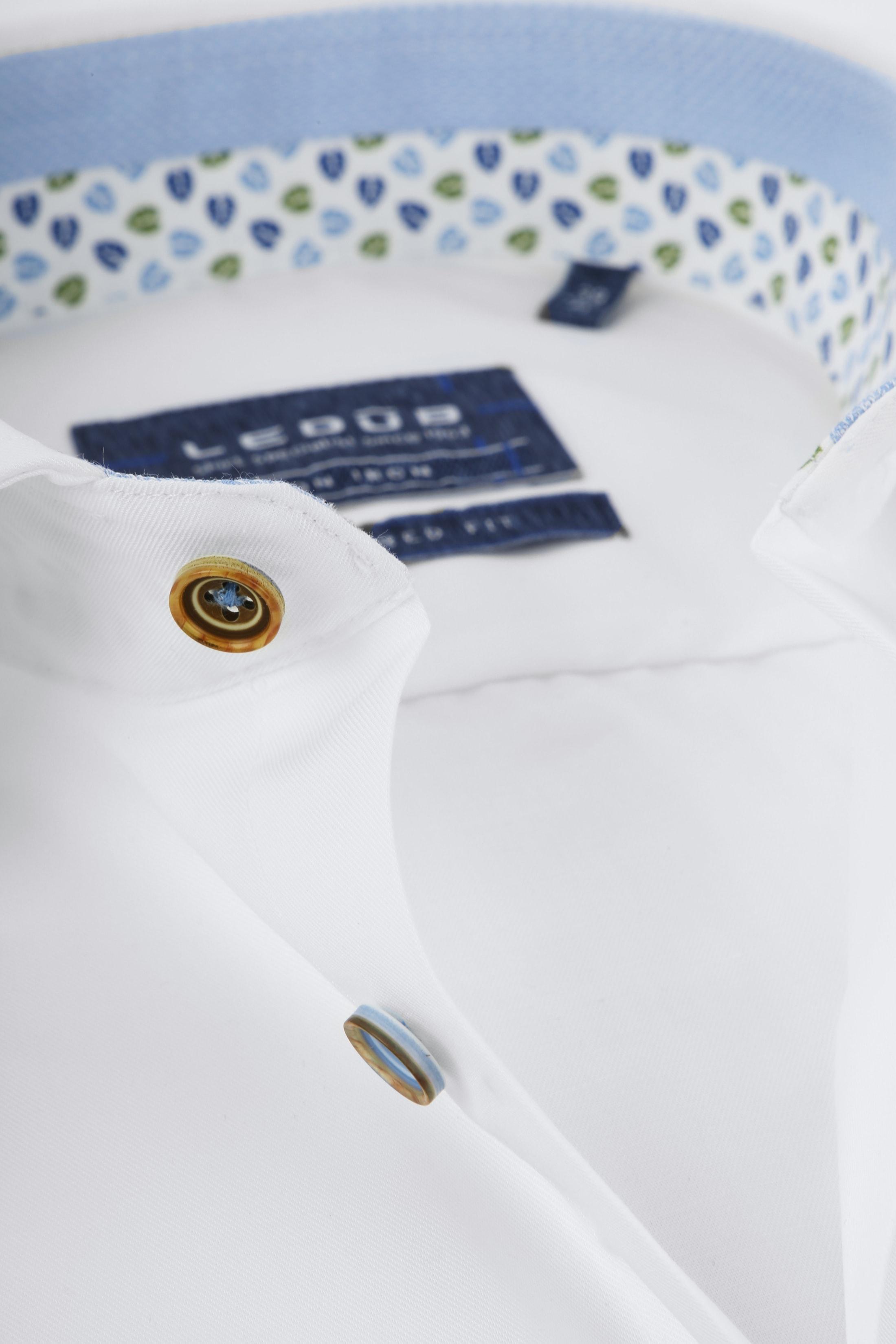 Ledub Shirt Button White SL7 foto 1