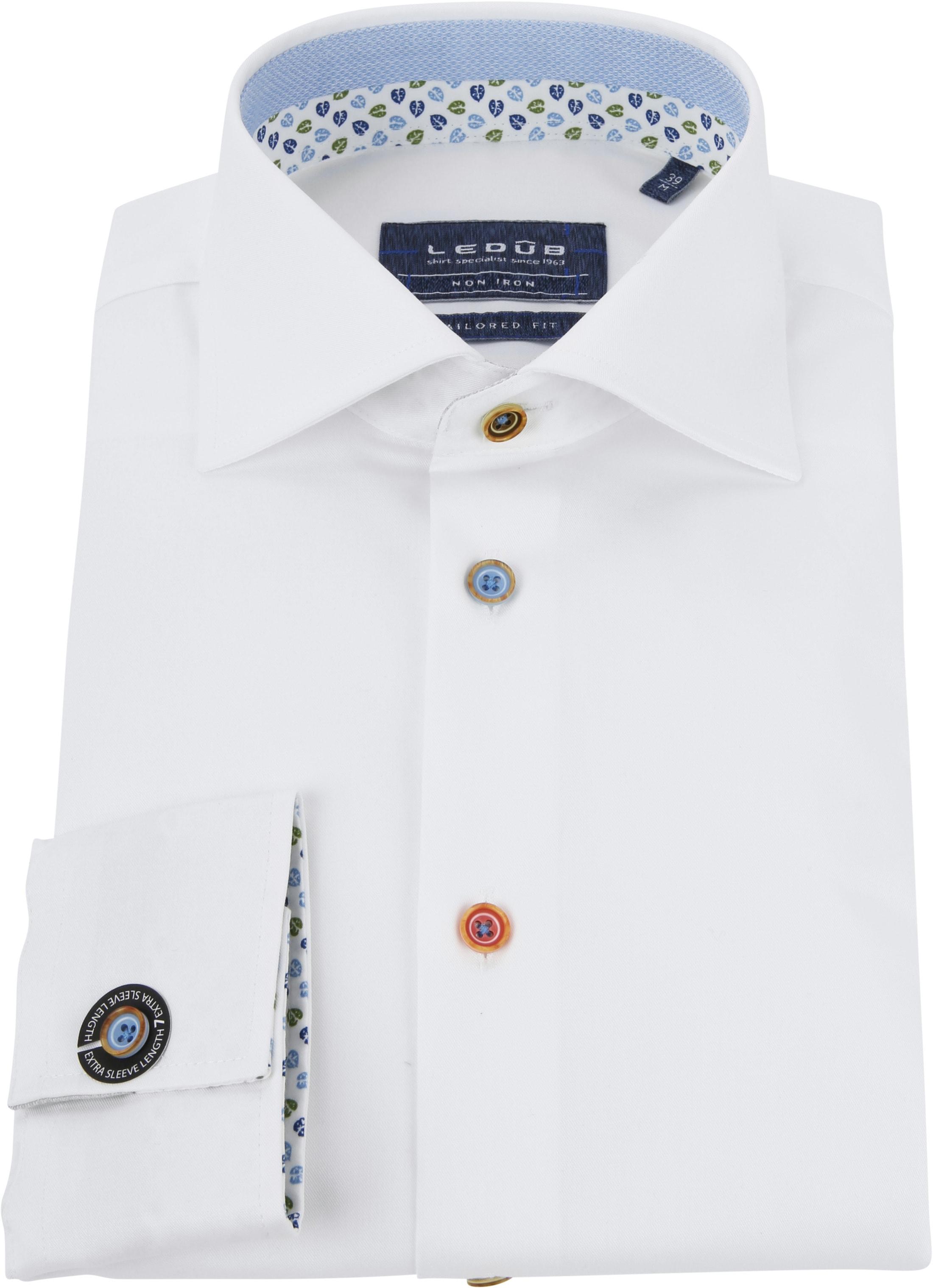 Ledub Shirt Button White SL7 foto 3