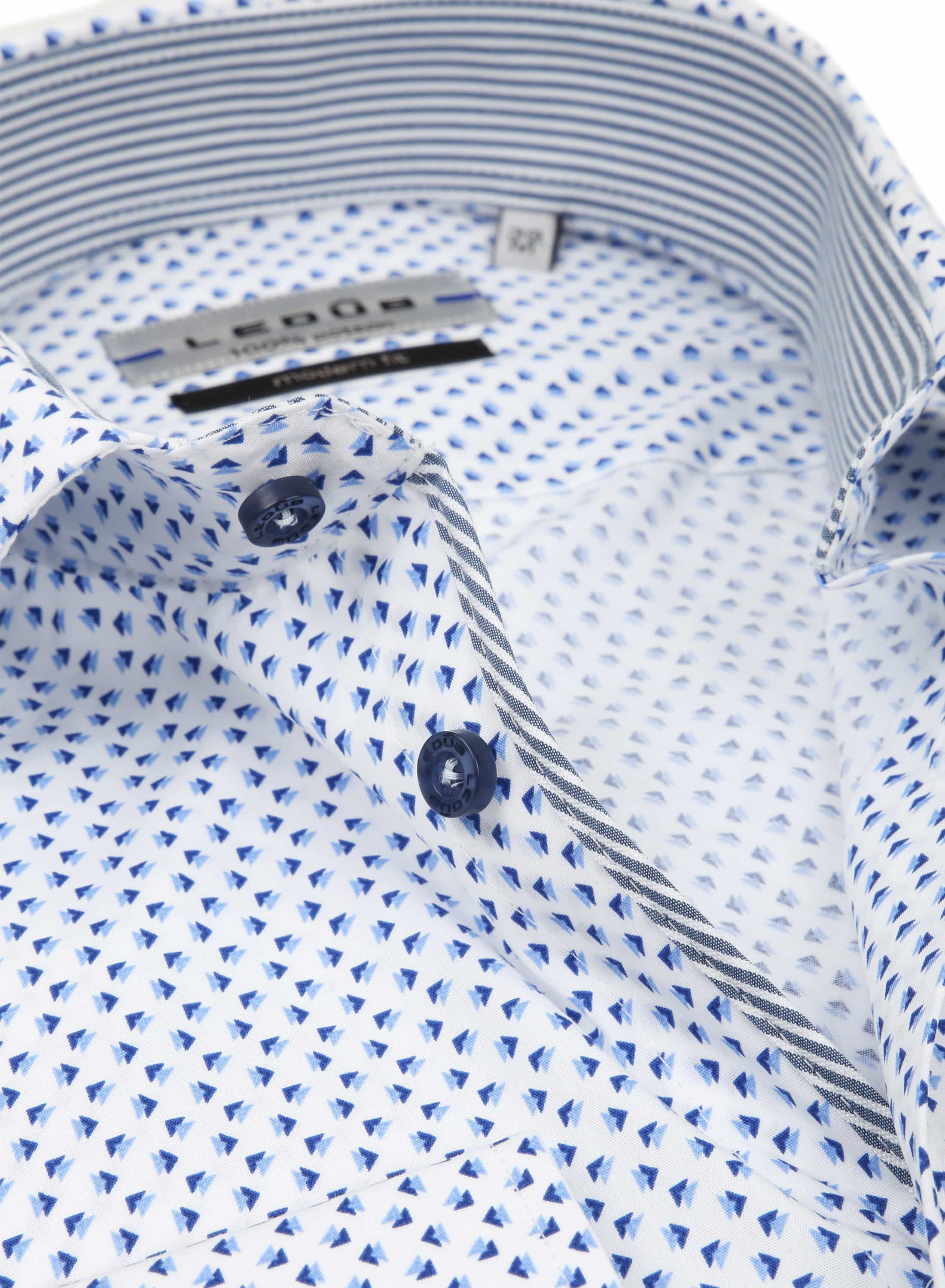 Ledub Shirt Pattern Design Blue foto 1