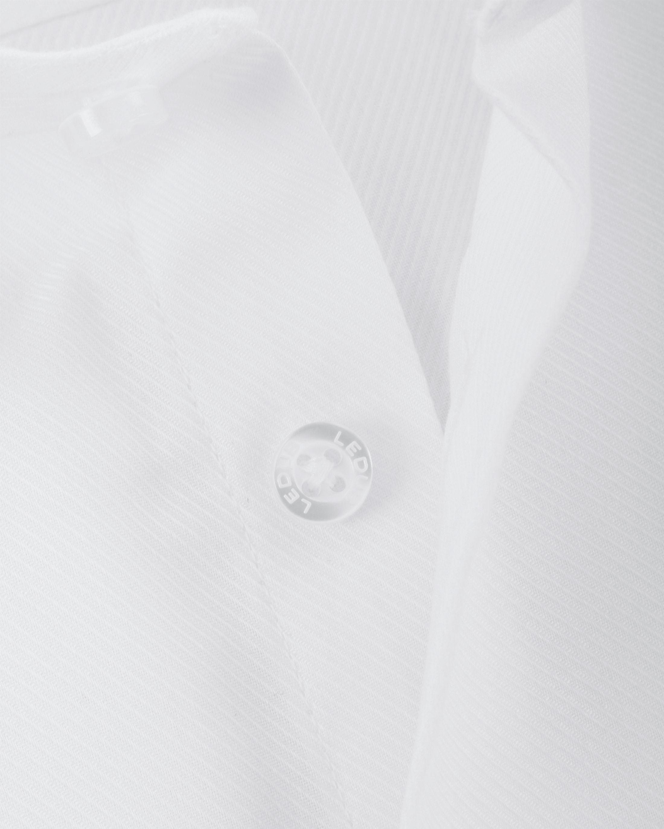 Ledub Shirt Uni White Twill foto 1