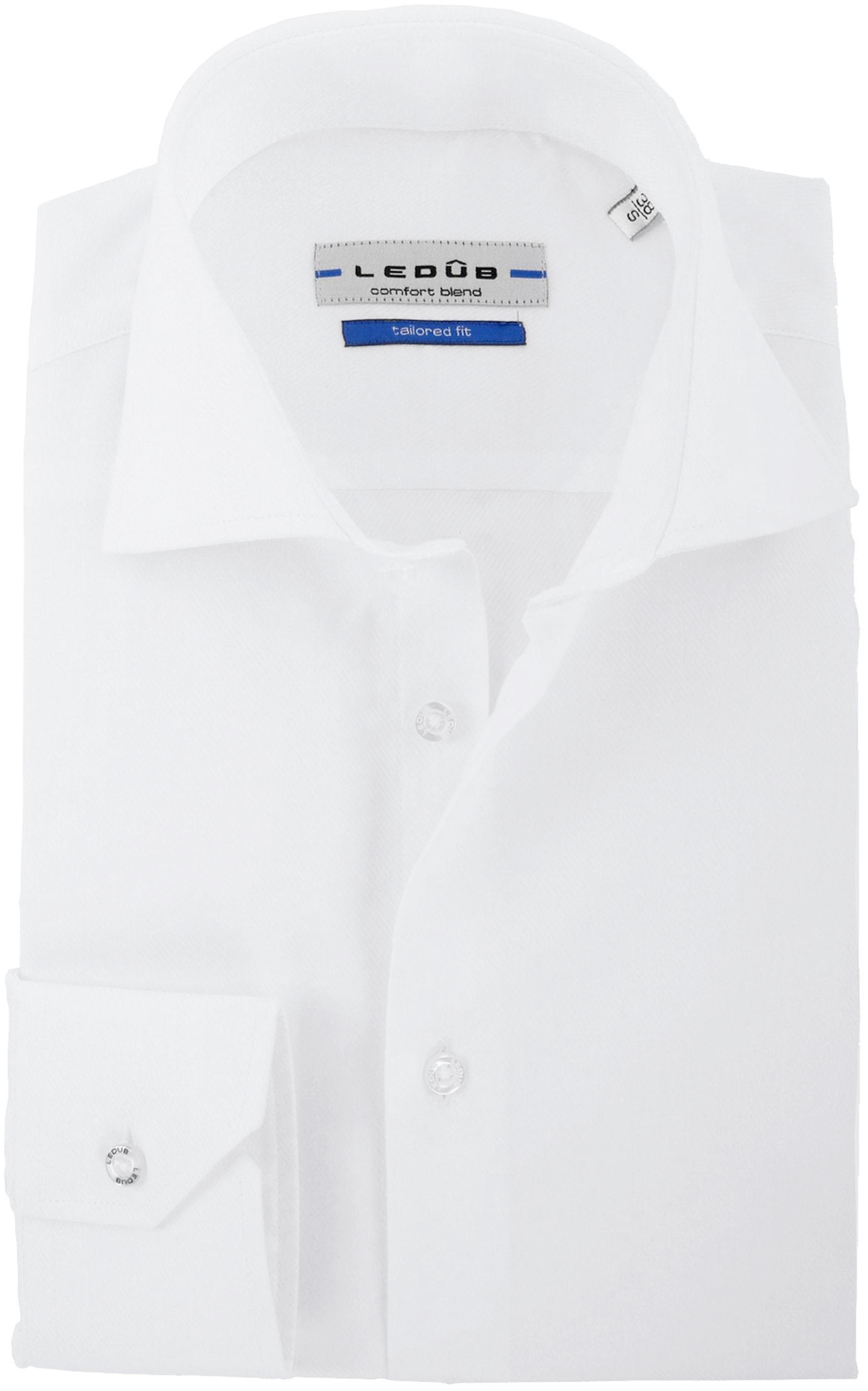 Ledub Shirt Uni White Twill foto 0