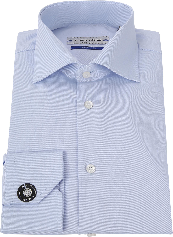 Ledub Strijkvrij Overhemd Blauw Sleeve 7 foto 2