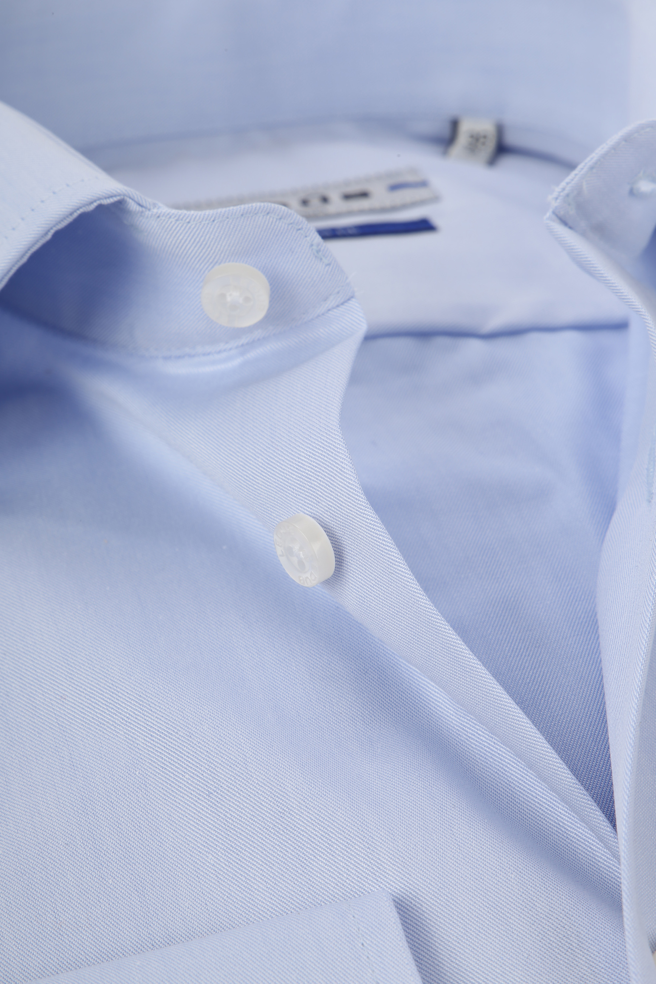 Ledub Strijkvrij Overhemd Blauw Sleeve 7 foto 1