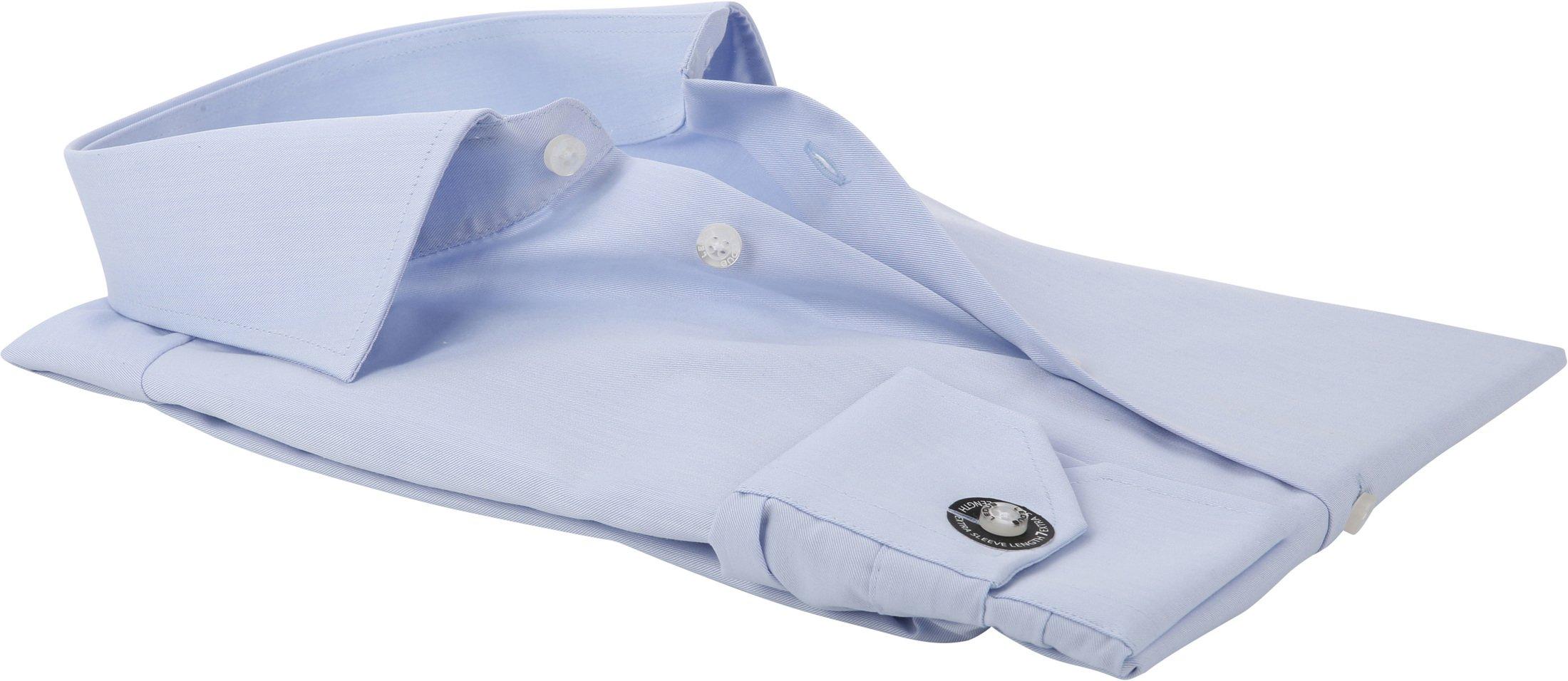 Ledub Strijkvrij Overhemd Blauw Sleeve 7 foto 3