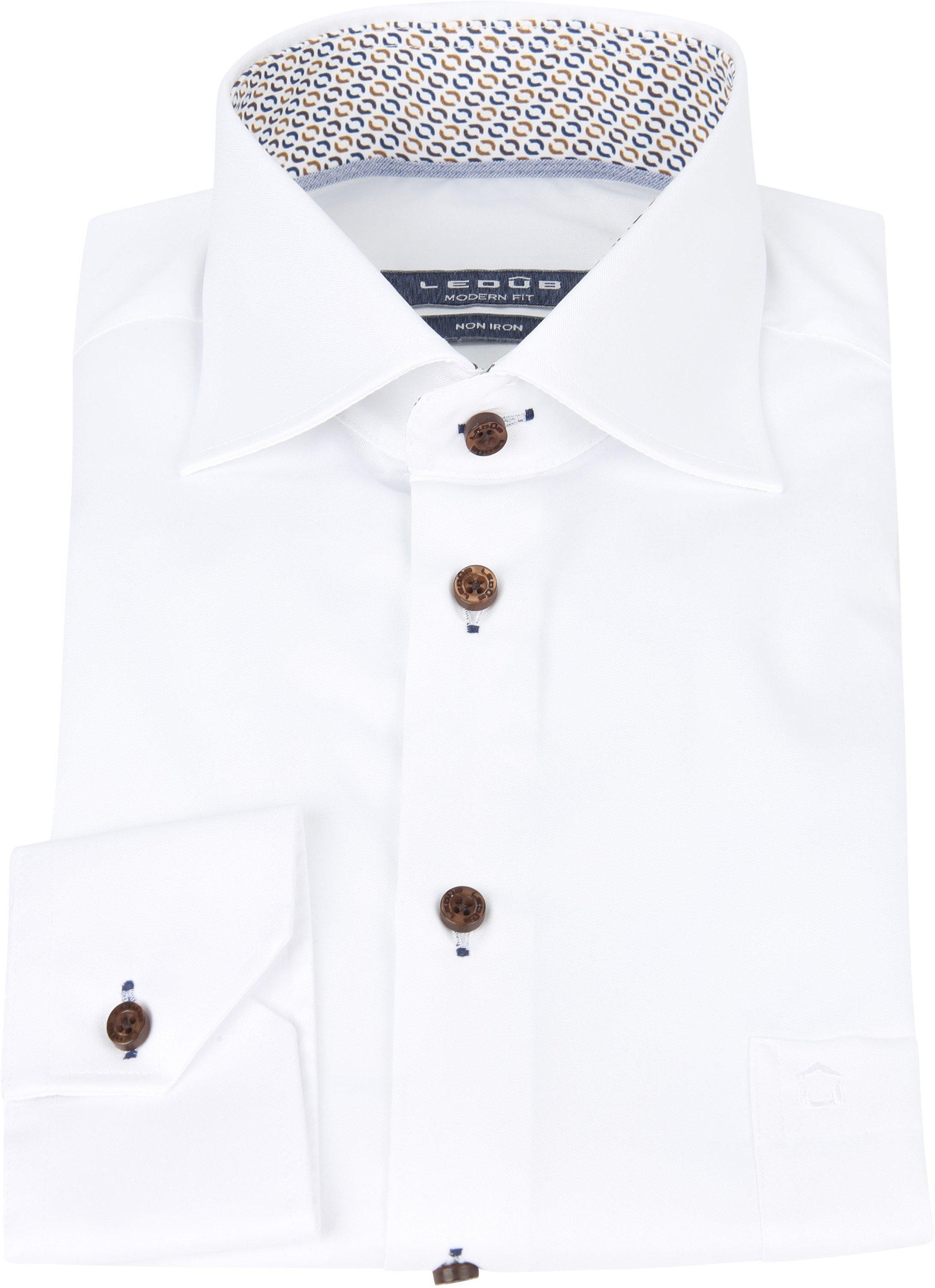 Ledub Strijkvrij Overhemd Spierwit