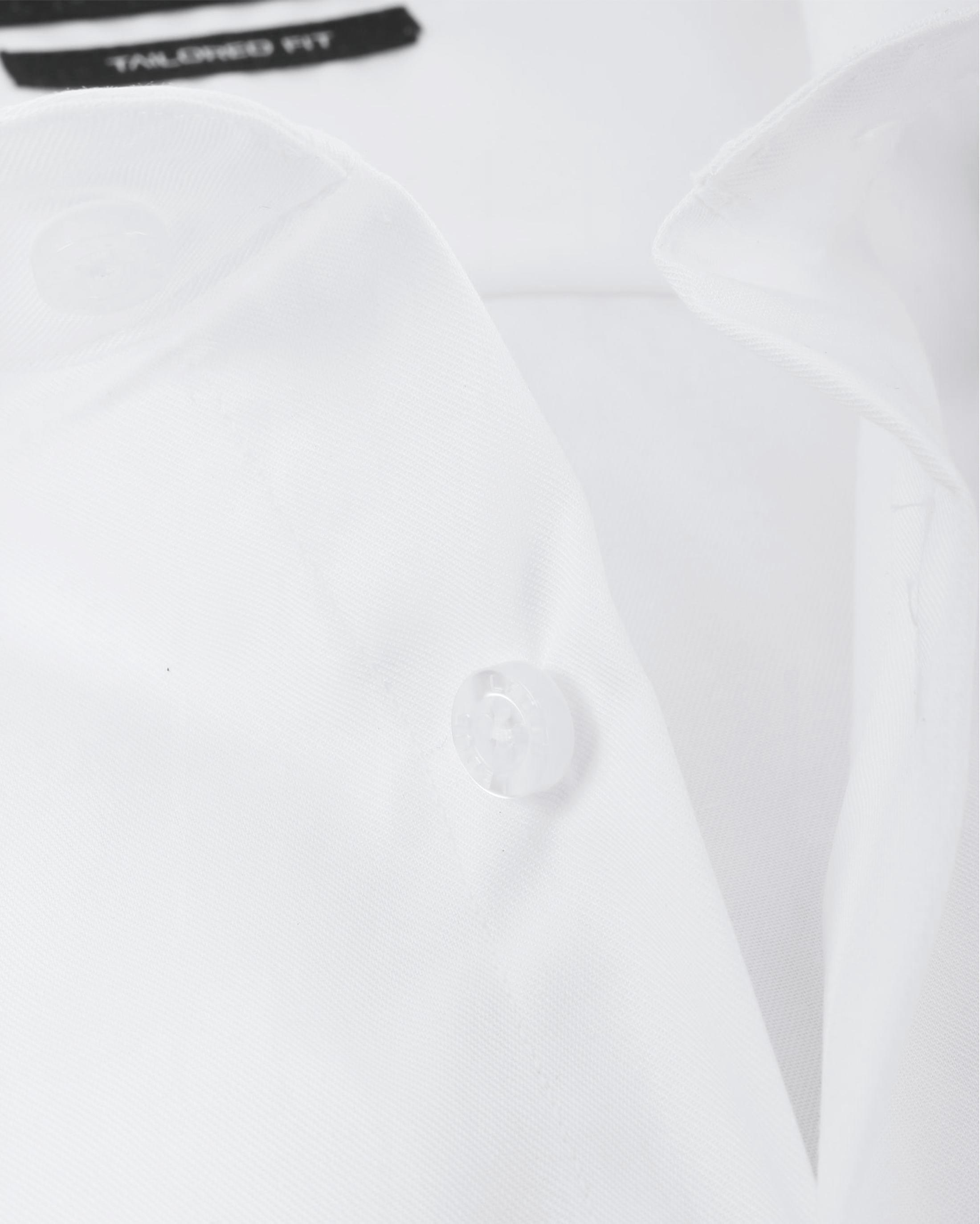 Ledub Strijkvrij Overhemd Wit