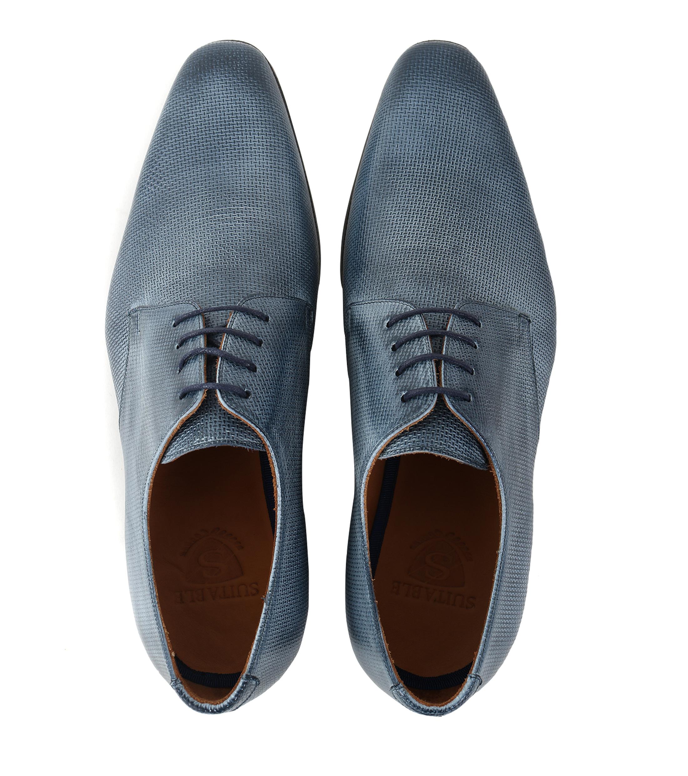 Chaussures Pour Hommes En Cuir Bleu Appropriés Tello ZJTSvcC0MX