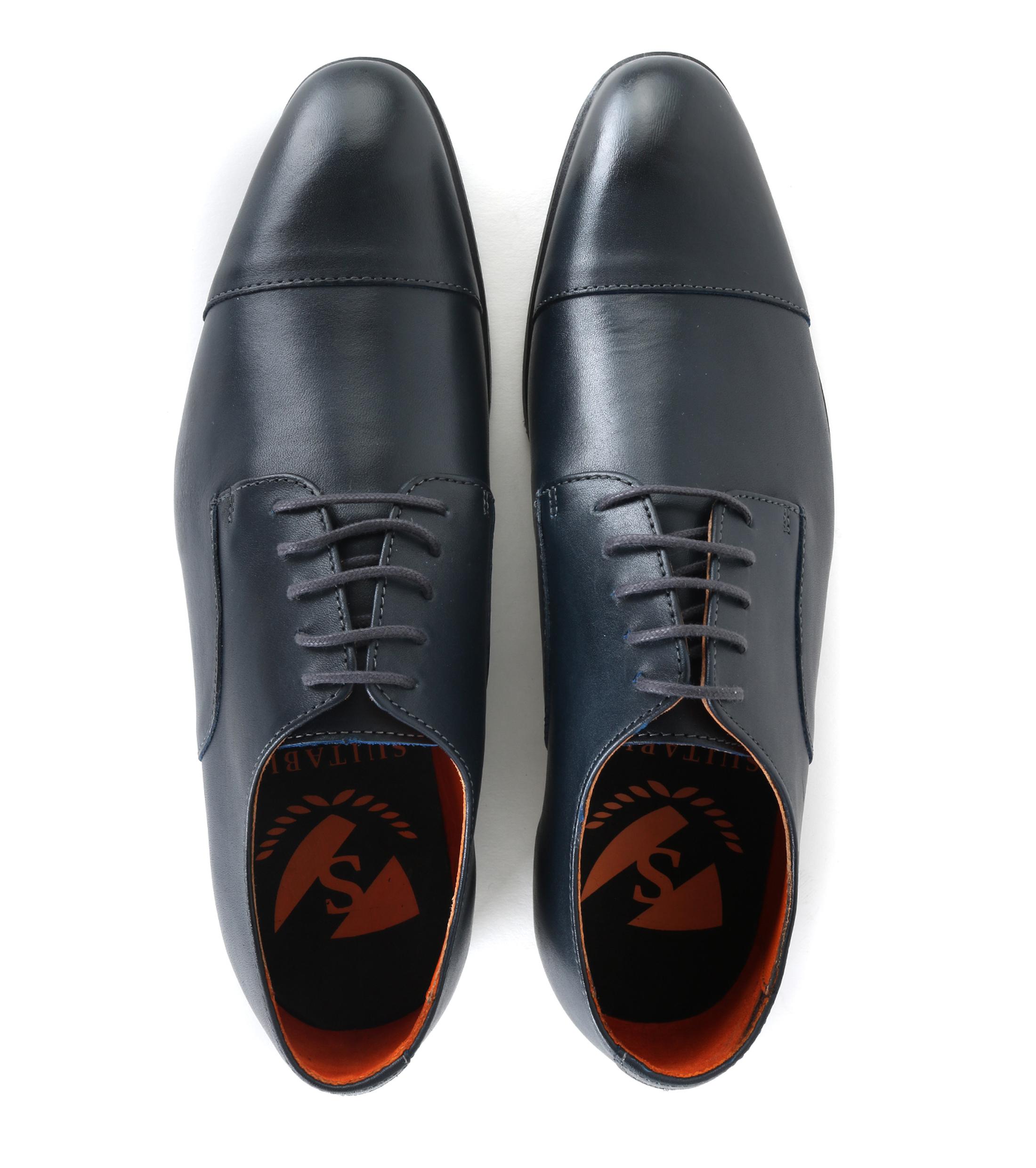Chaussures Pour Hommes En Cuir Derby Marine L7F3QgKben