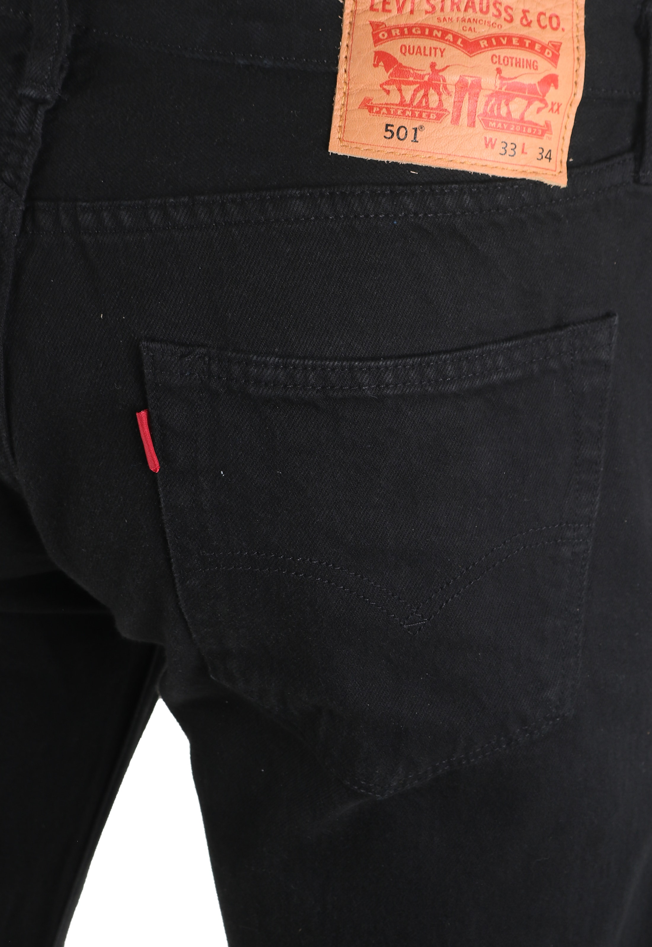 Levi's 501 Jeans Original Fit Black 0165 foto 4