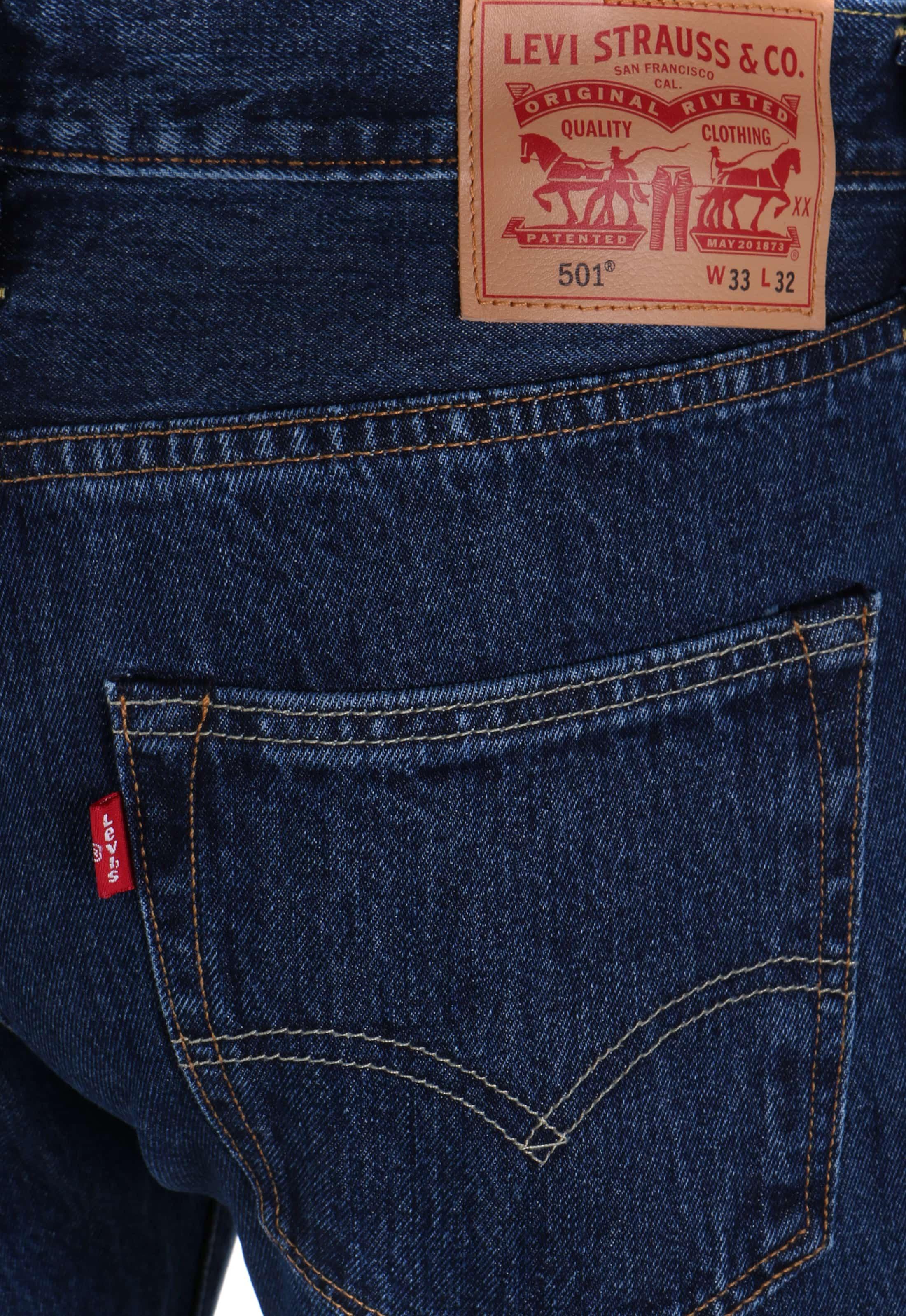 Levis 501 Jeans Original Fit Blue 0114 00501 0114 Stone Wash