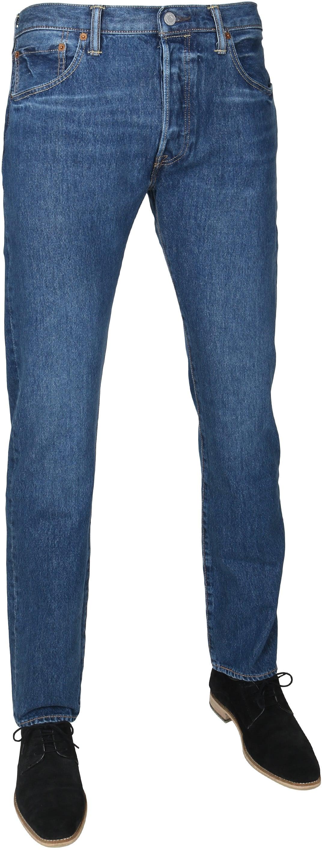 Levi's 501 Jeans Original Fit Navy foto 0
