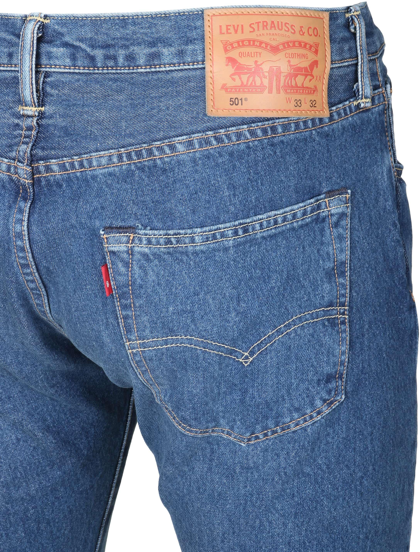 Levi's 501 Jeans Original Fit Navy foto 1
