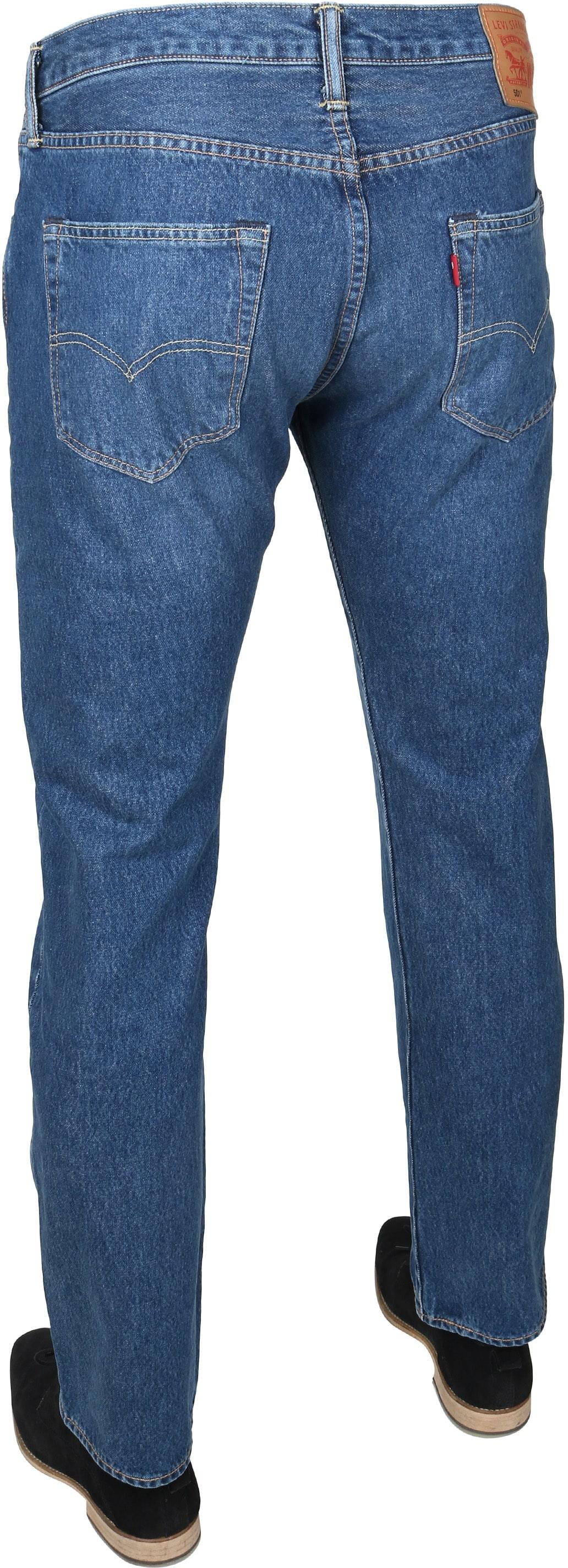 Levi's 501 Jeans Original Fit Navy foto 3