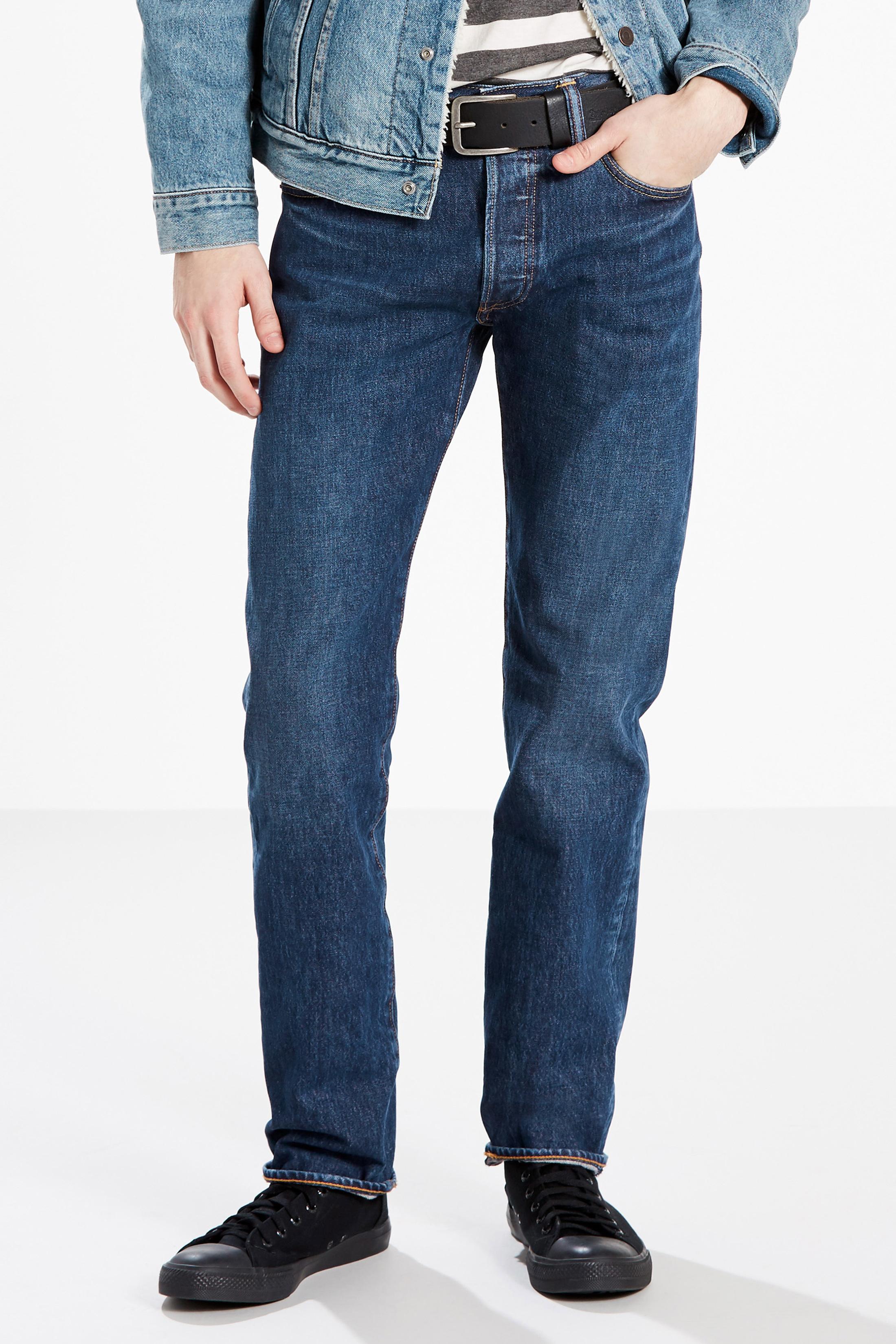 Levi's 501 Jeans Original Fit Navy foto 4