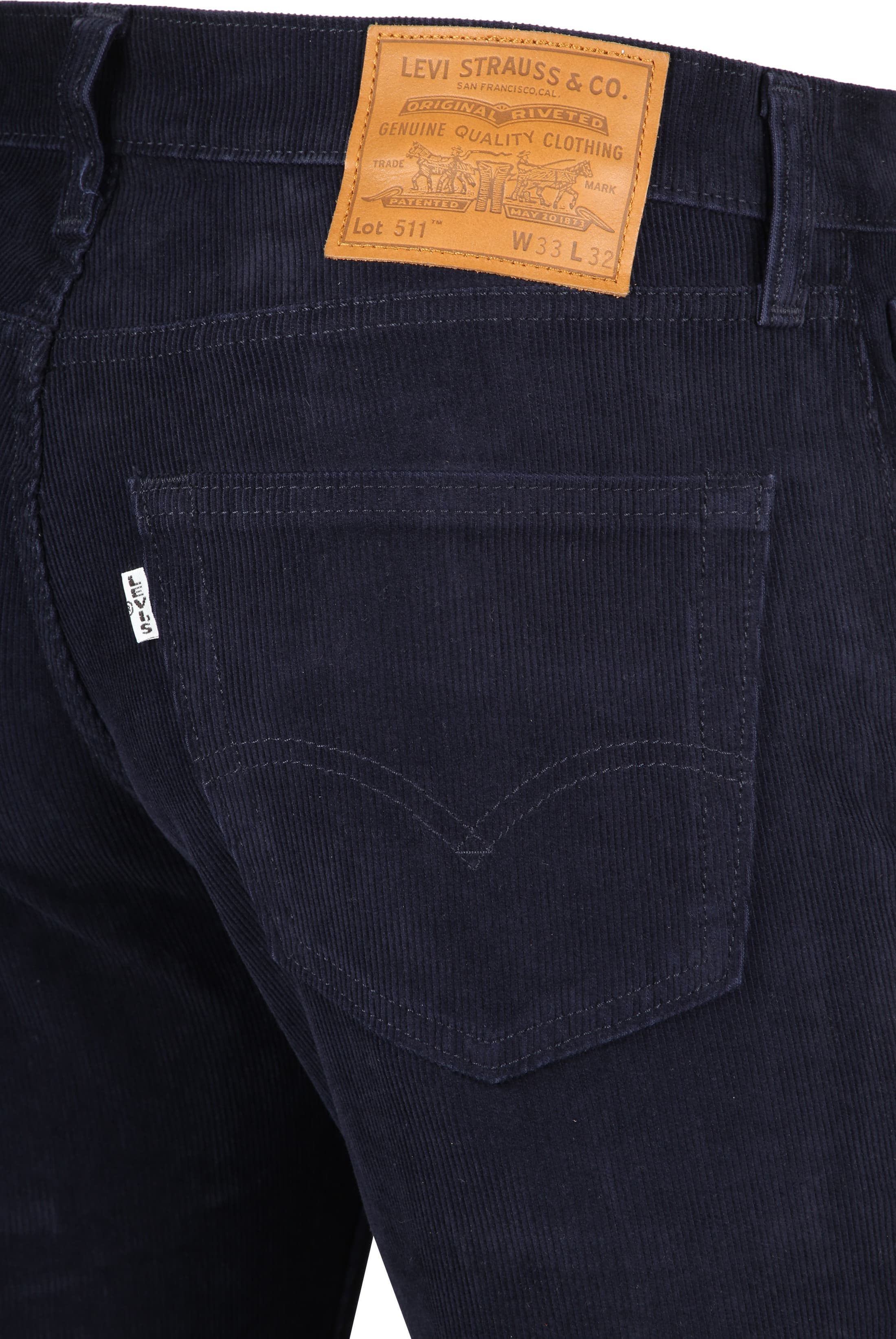 Levi's 511 Broek Slim Fit Navy foto 2