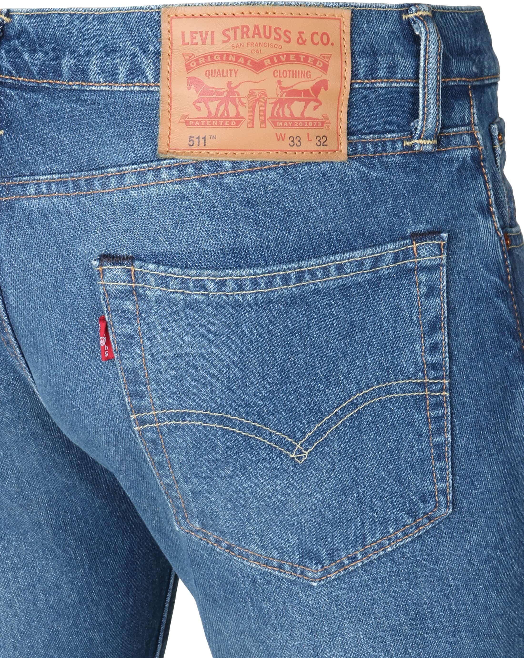 Levi's 511 Jeans Slim Fit Blauw foto 1