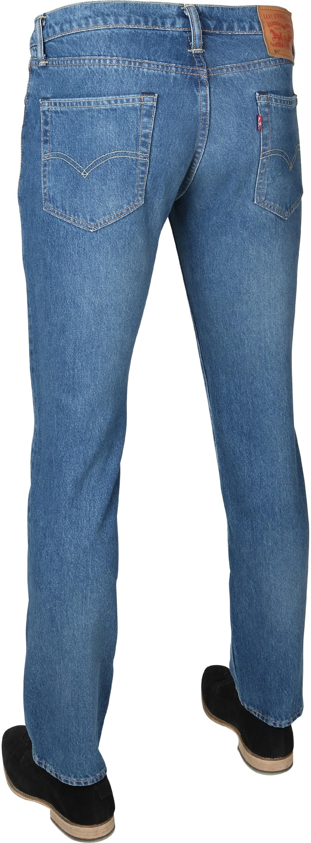 Levi's 511 Jeans Slim Fit Blauw foto 2