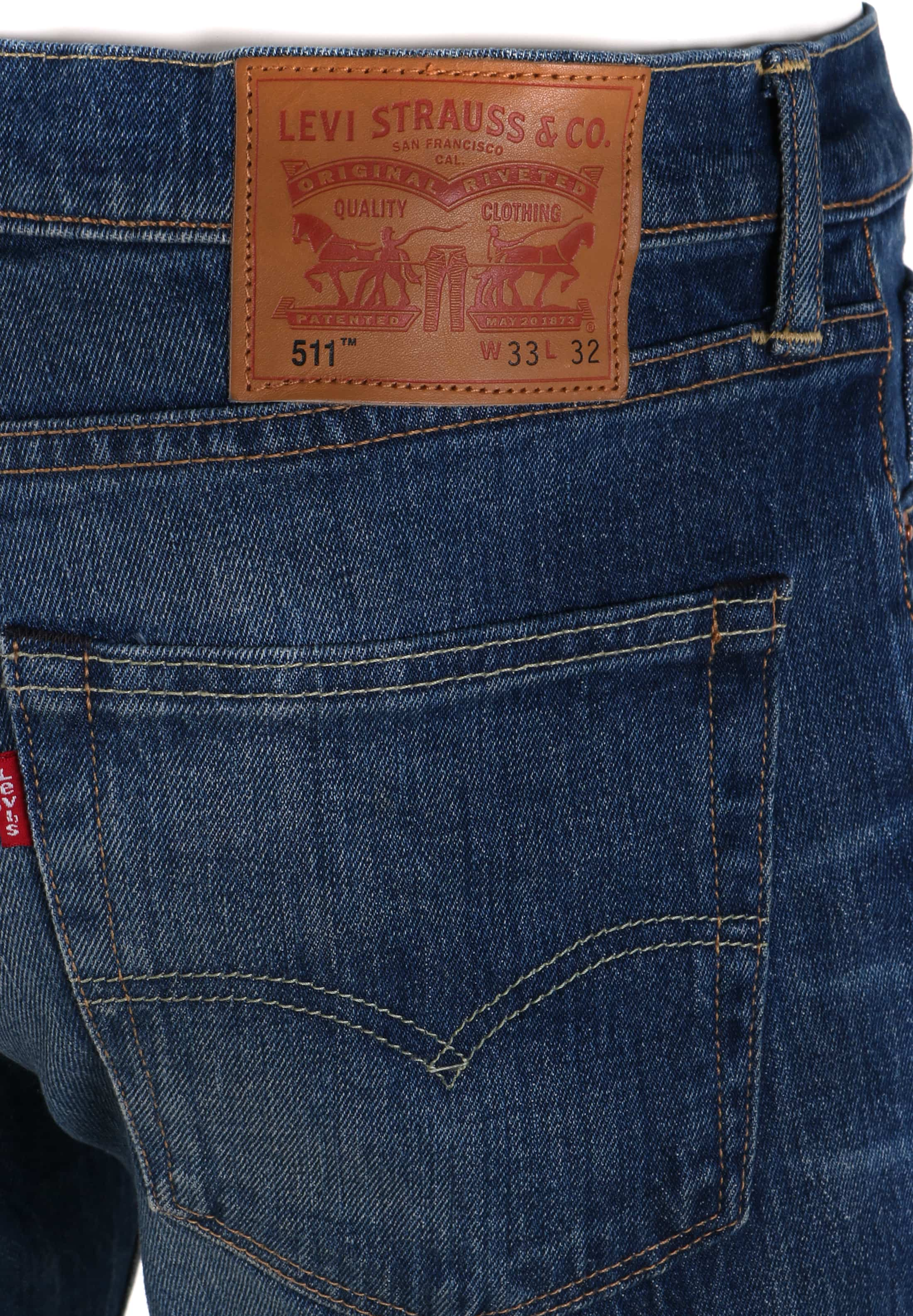 Levi's 511 Jeans Slim Fit Darkblue 1876 foto 3