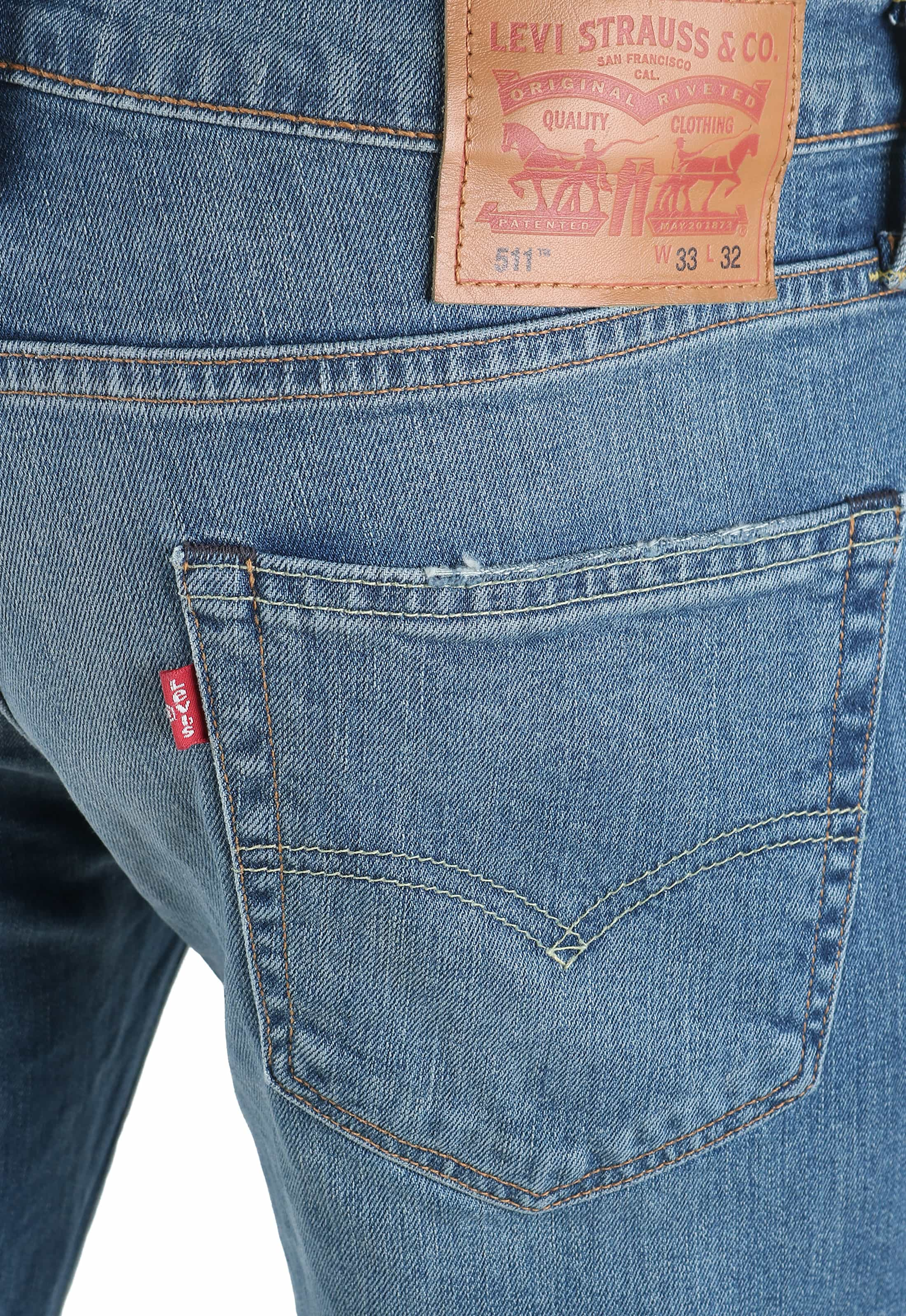 Levi's 511 Jeans Slim Fit Light Denim 1096 foto 3