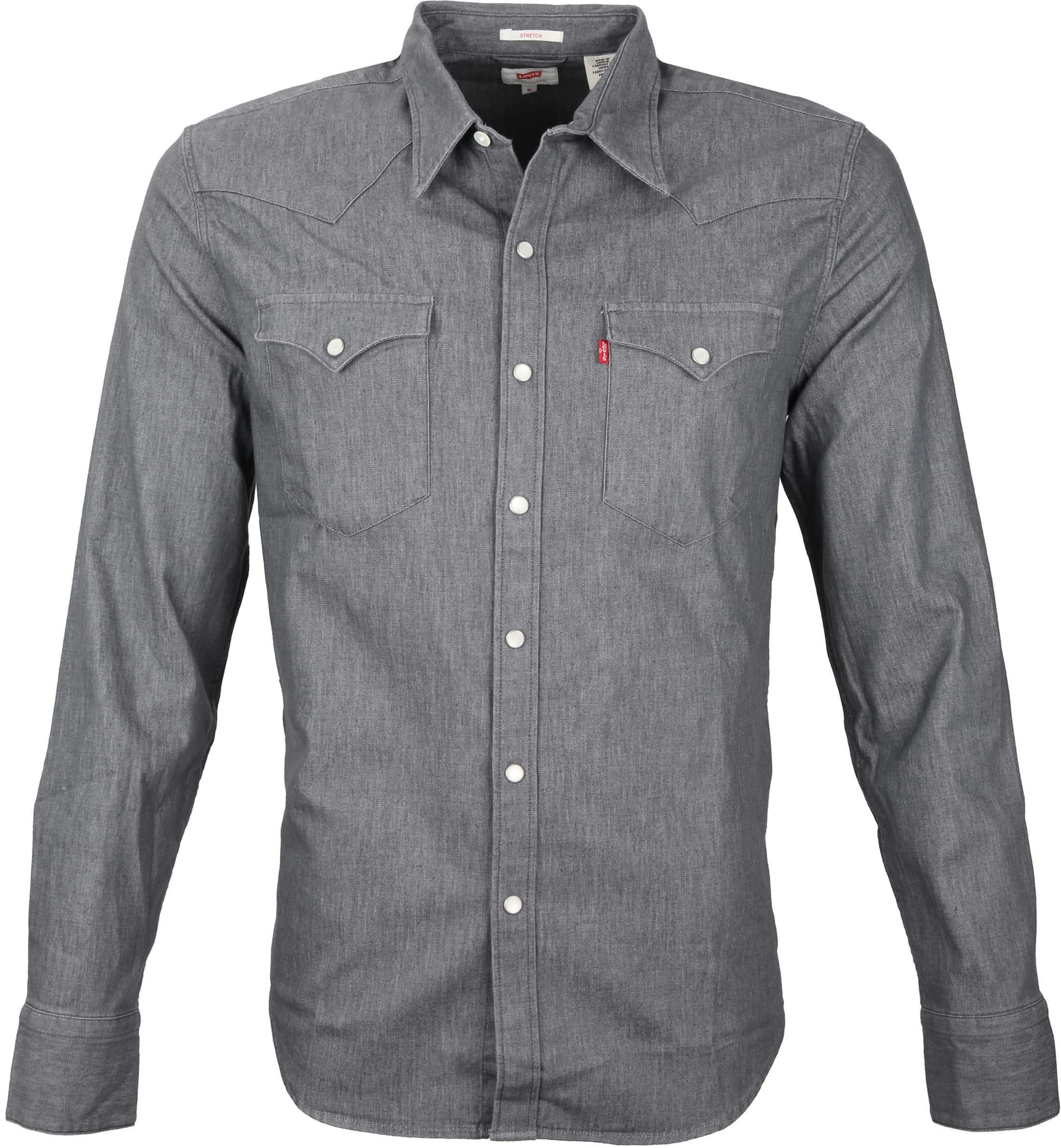 Levi's Barstow Western Overhemd Grey foto 0
