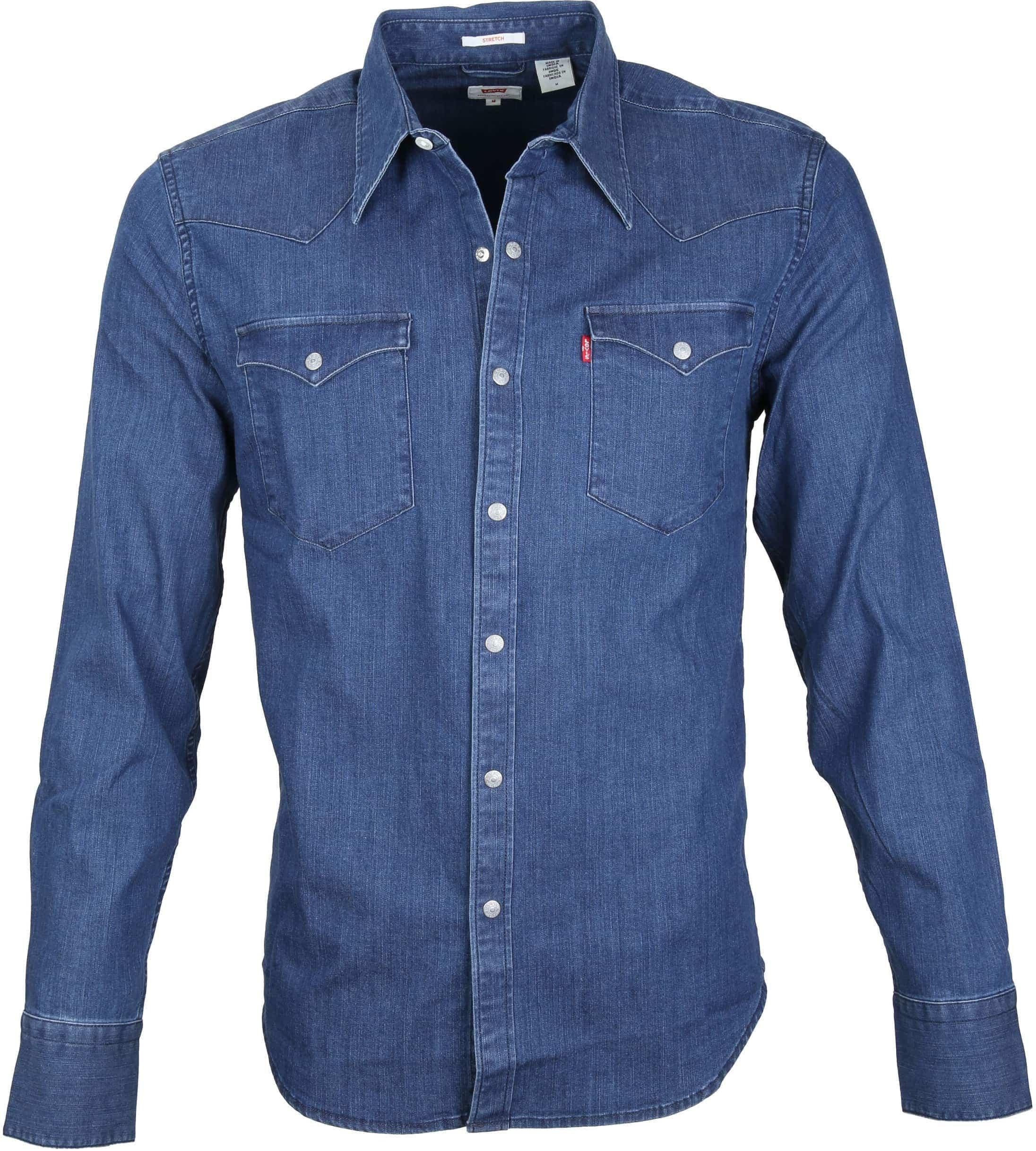 Levi's Barstow Western Overhemd Indigo foto 0