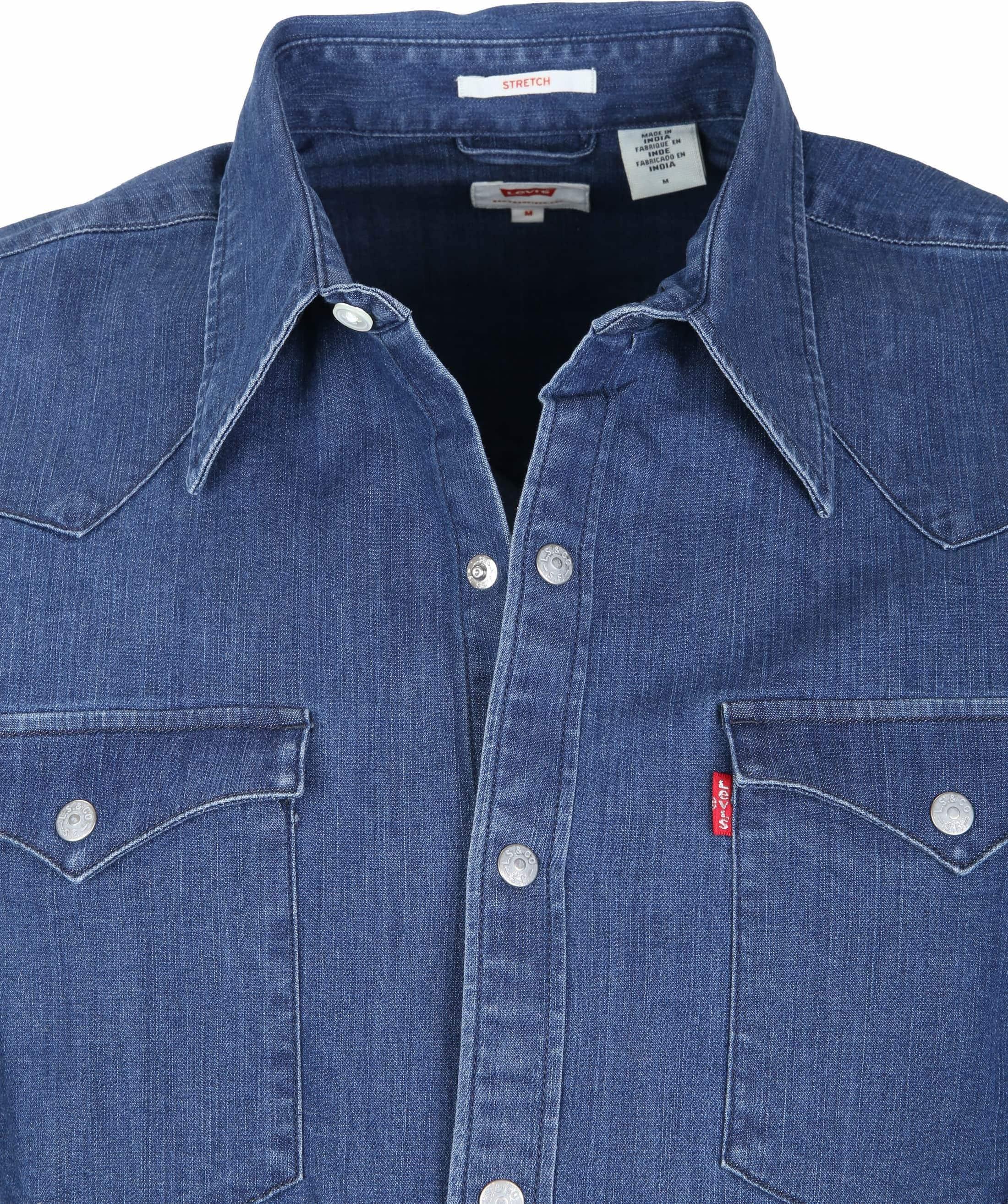 Levi's Barstow Western Overhemd Indigo foto 1