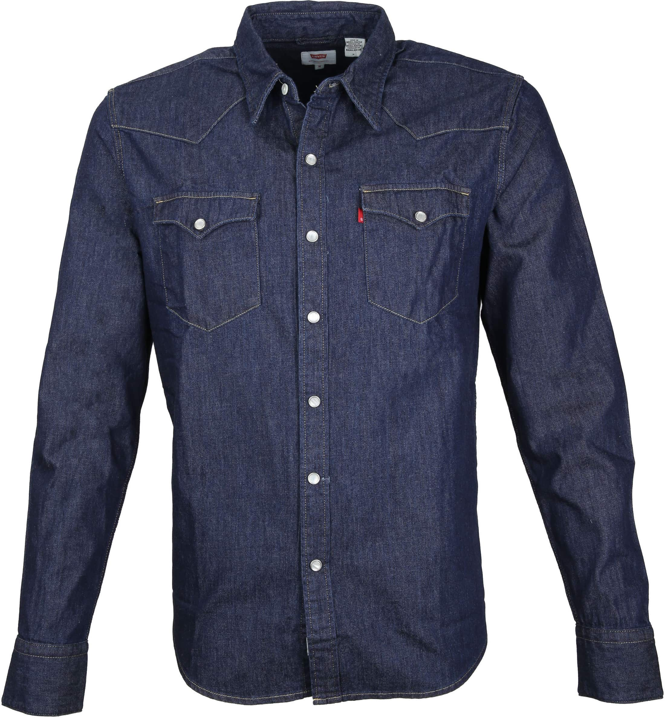 Levi's Barstow Western Overhemd Navy foto 0