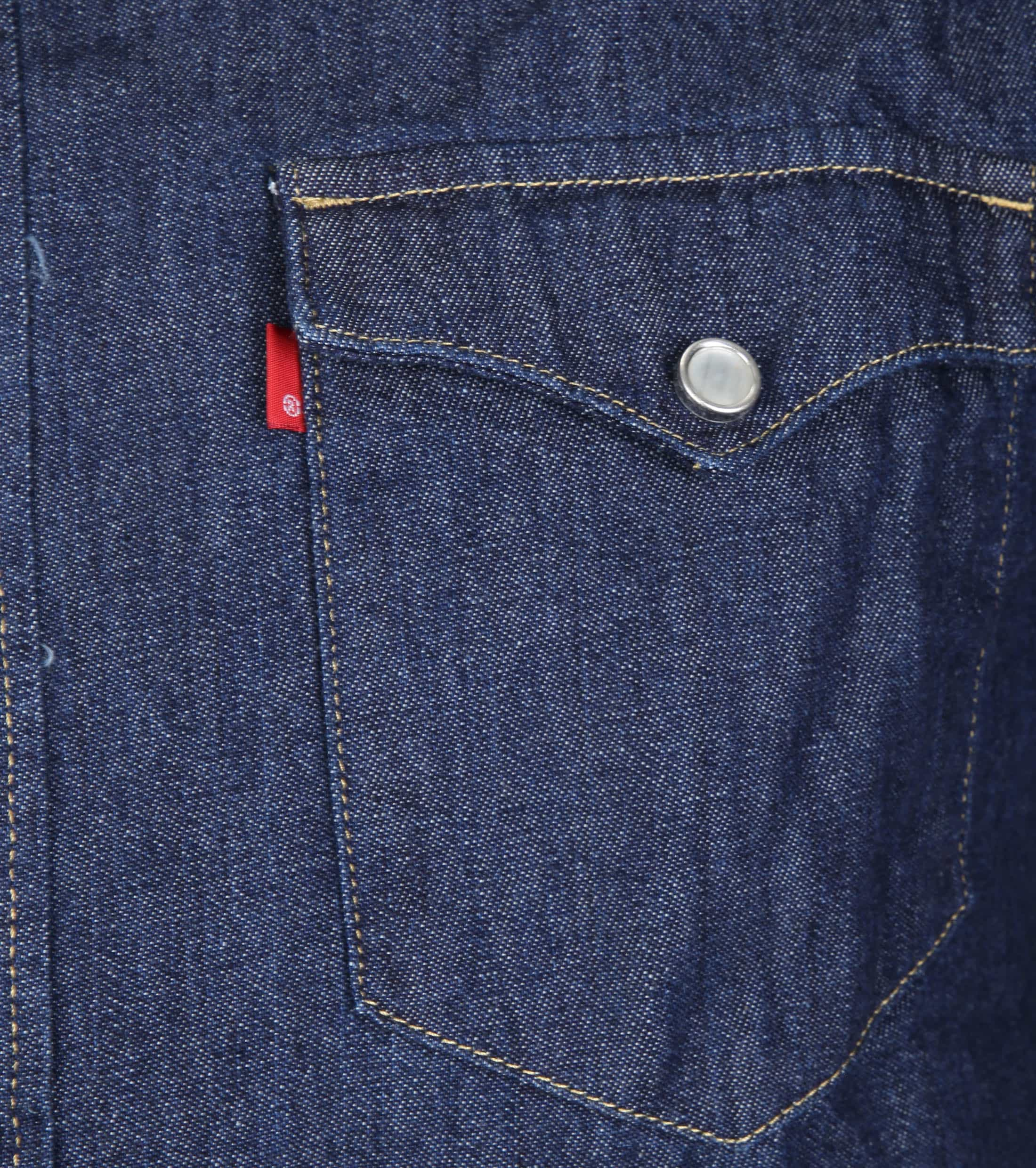 Levi's Barstow Western Overhemd Navy foto 1