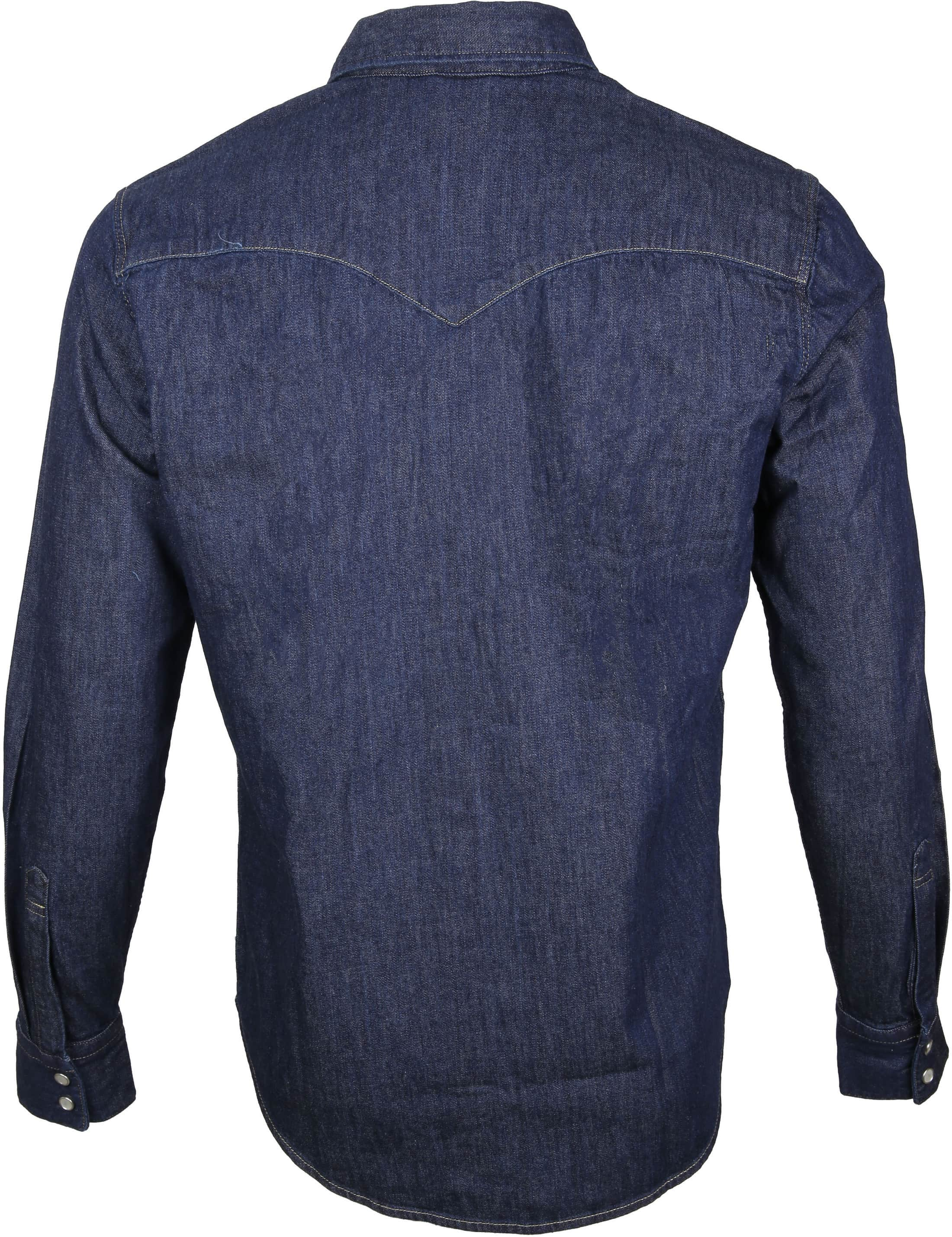 Levi's Barstow Western Overhemd Navy foto 3