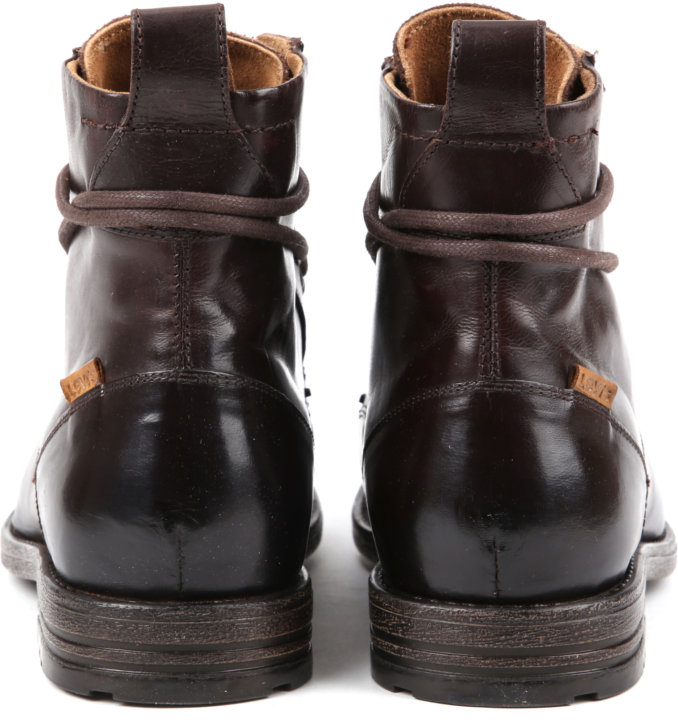 Levi's Boots Emerson Dark Brown Lether foto 3
