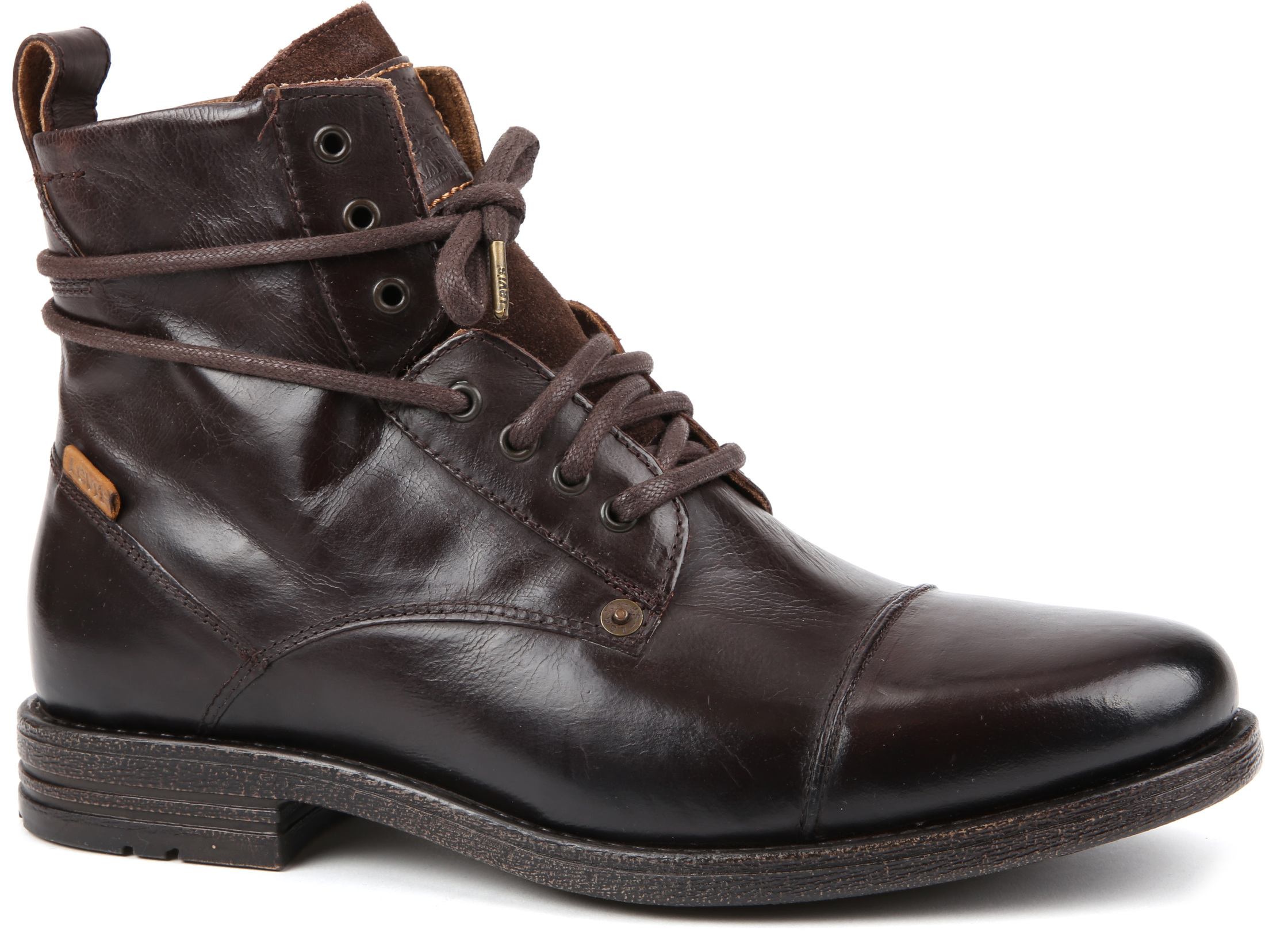 Levi's Boots Emerson Dark Brown Lether foto 0