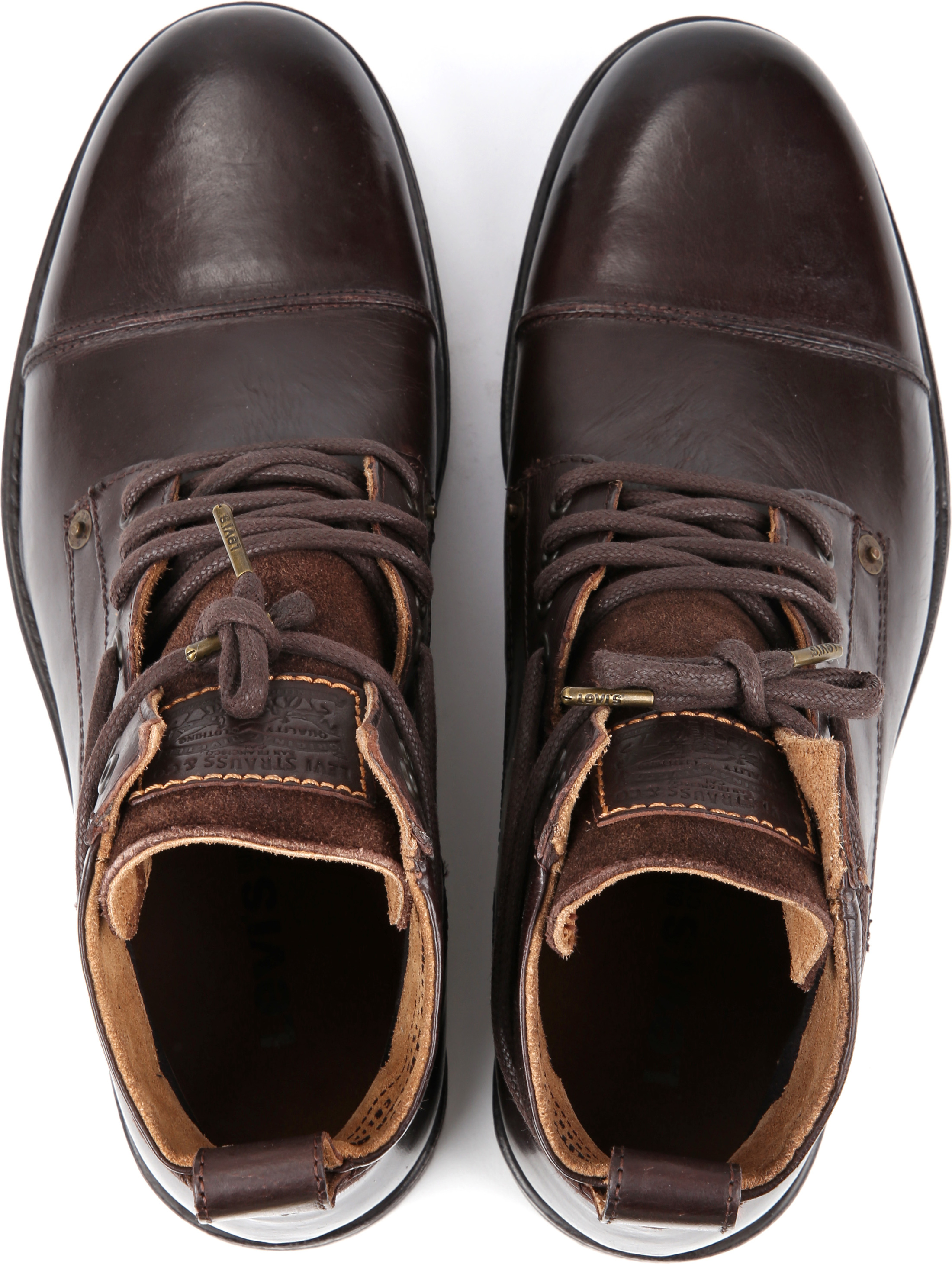 Levi's Boots Emerson Dark Brown Lether foto 2